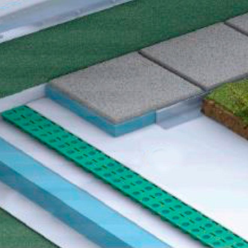 Losa Plana Ajardinada Invertida Extensiva EXT1/D en BIM