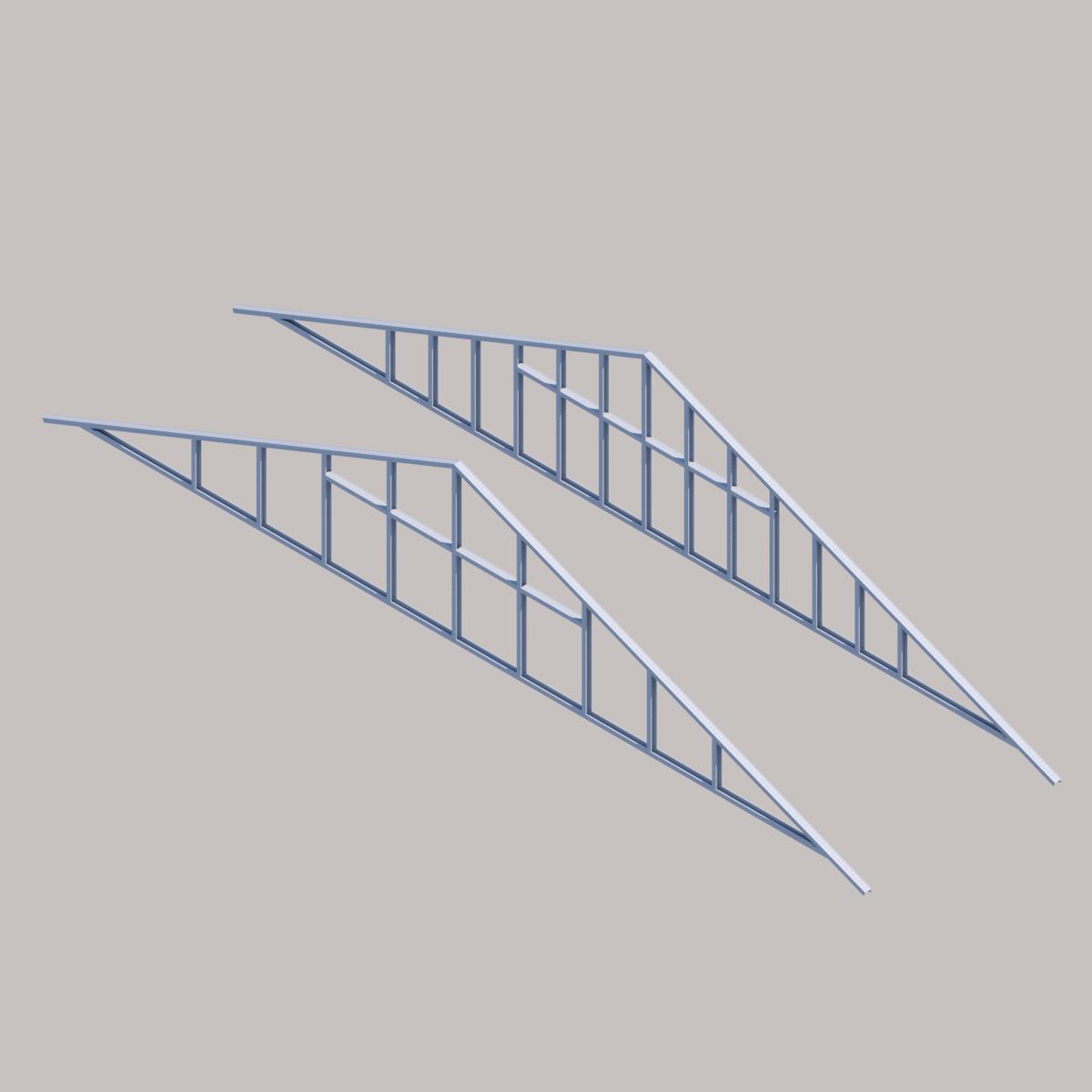 Frontón Prefabricado de Acero de Tecnopanel en BIM