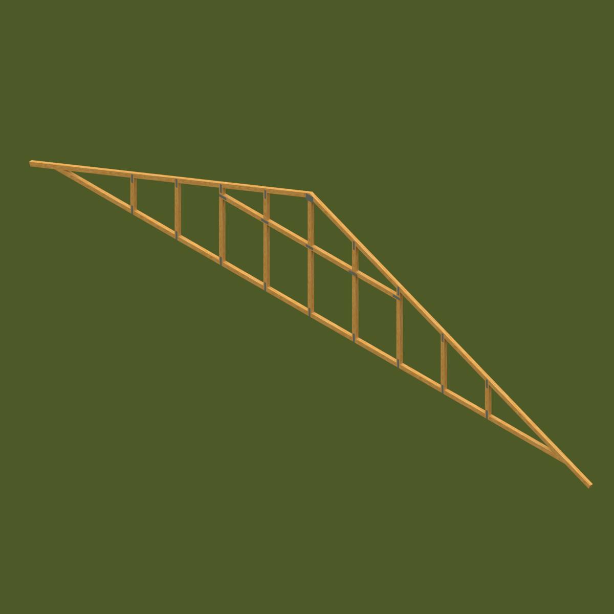 Frontón Prefabricado de Madera de Tecnopanel en BIM