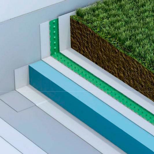 Cubierta Plana Ajardinada Invertida Intensiva INT2/D en BIM