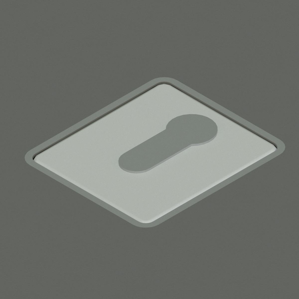 Sistema de apertura de puerta Key Switch Flush de G-U en BIM