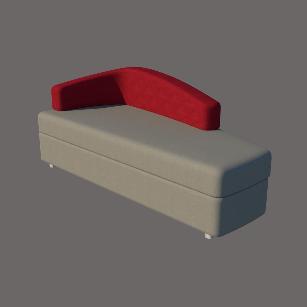 Sofa Long Chaise de línea CHAT de Siel Diseño en BIM