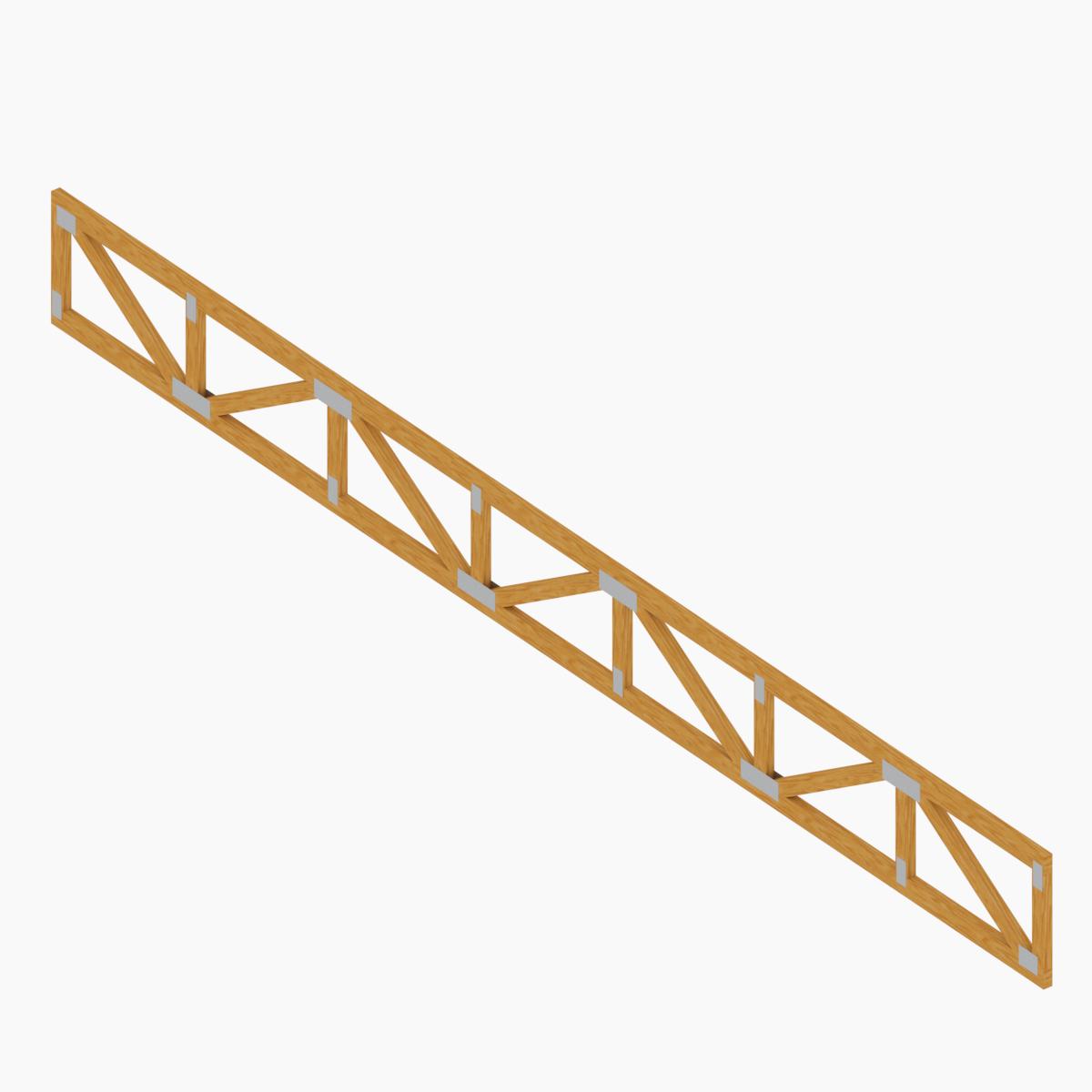 Viga Reticulada Prefabricada de Madera de Tecnopanel en BIM