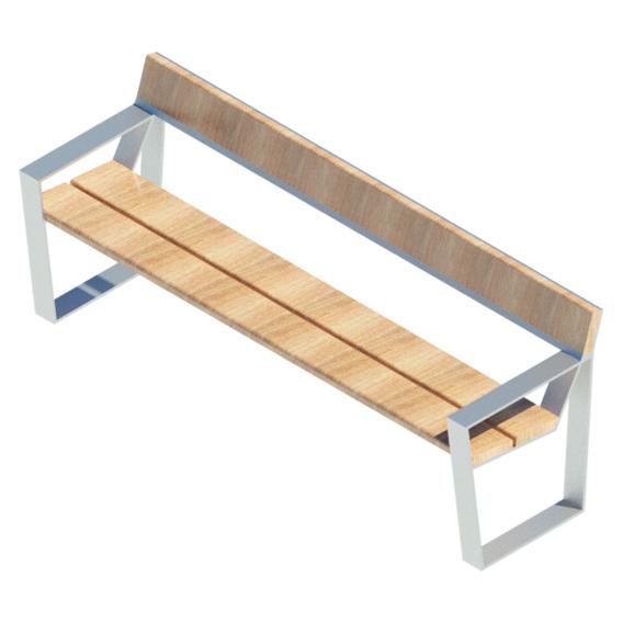 Escaño madera apoyo