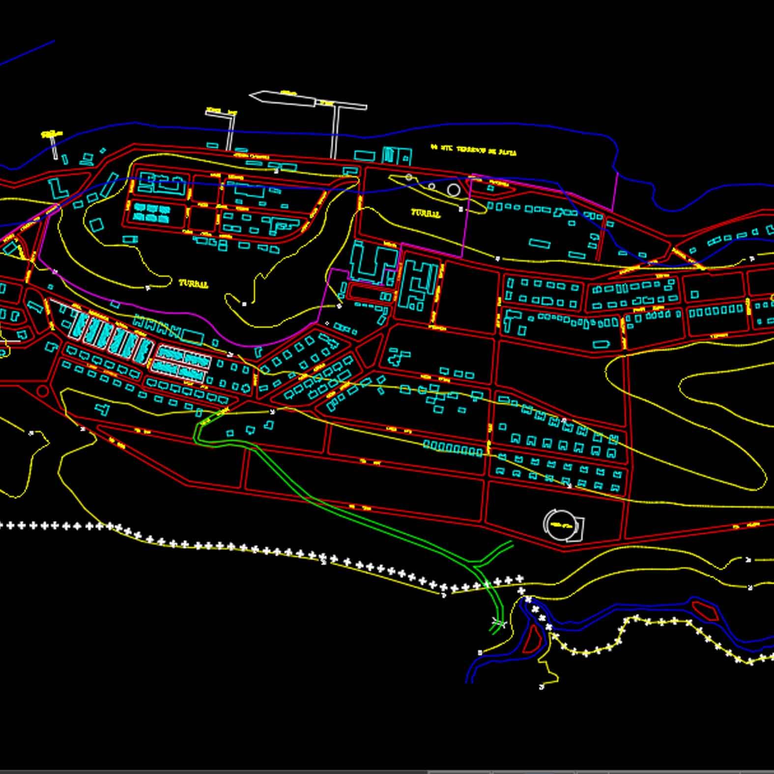 Plano: Ciudad de Puerto Williams