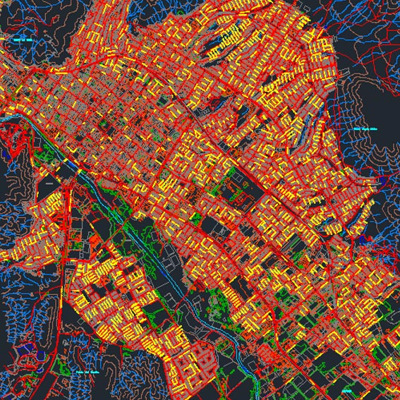 Plano Ciudad de Copiapó (Plano Regulador)