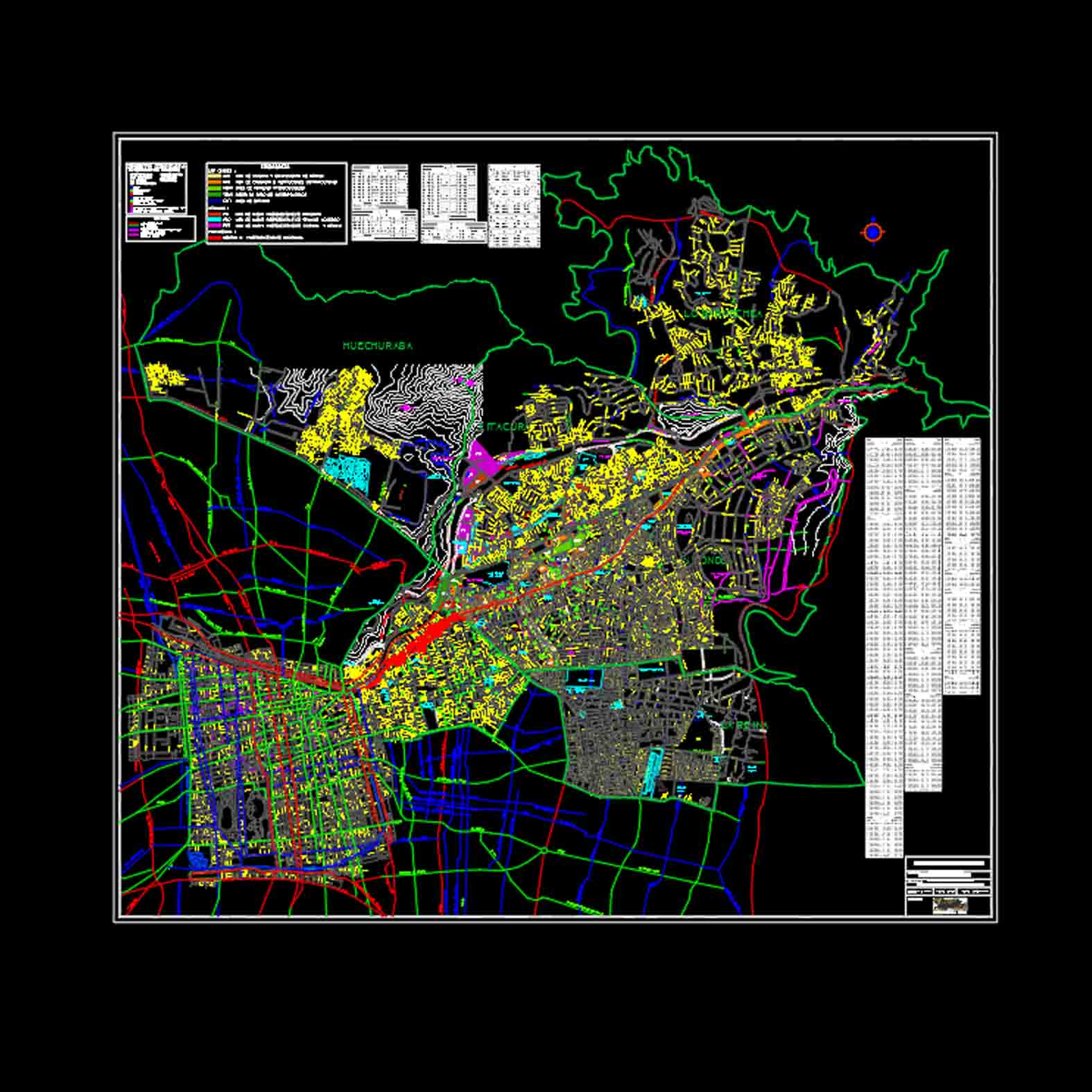 Plano: Santiago Intercomunal / Conexiones Sector Oriente RM