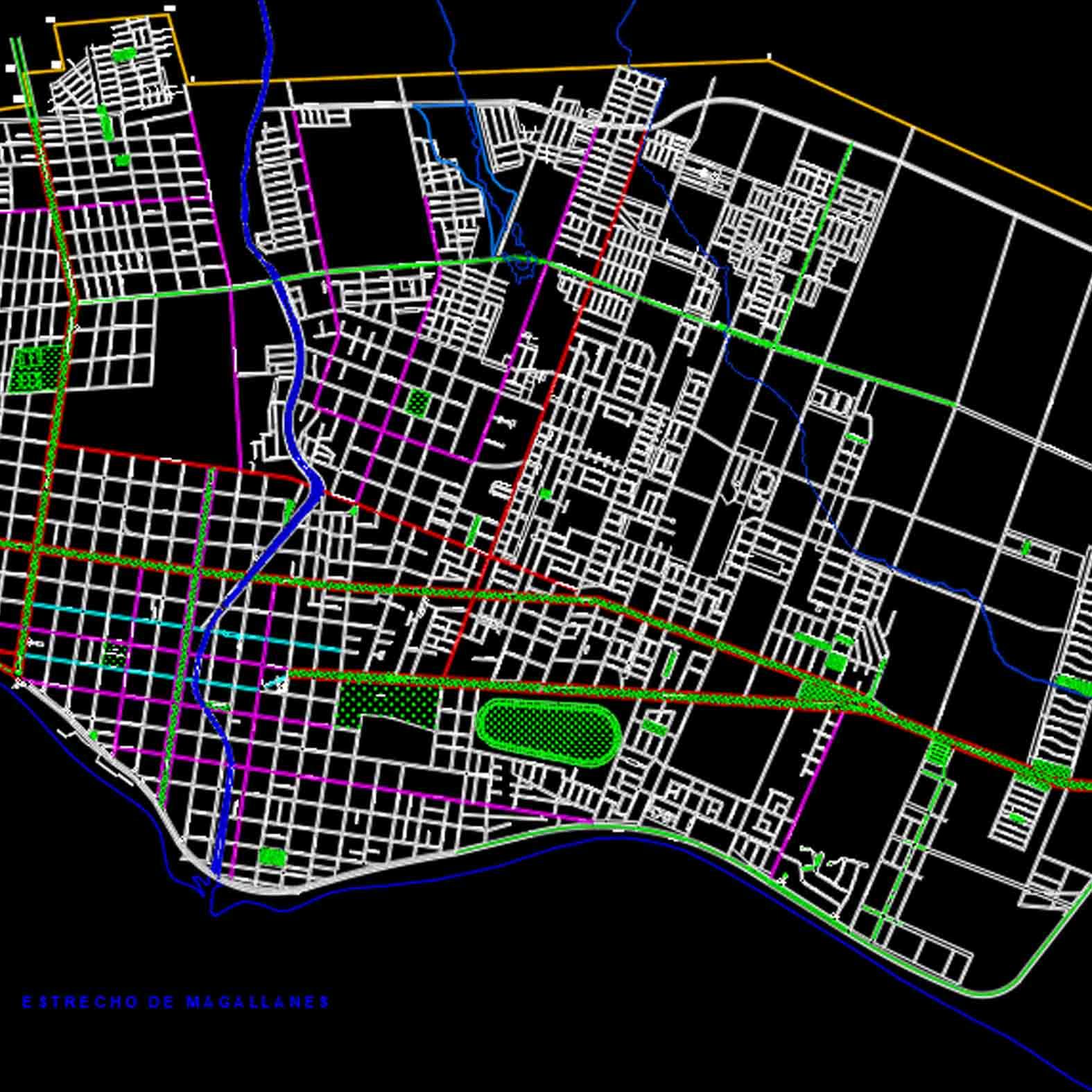 Plano: Ciudad de Punta Arenas