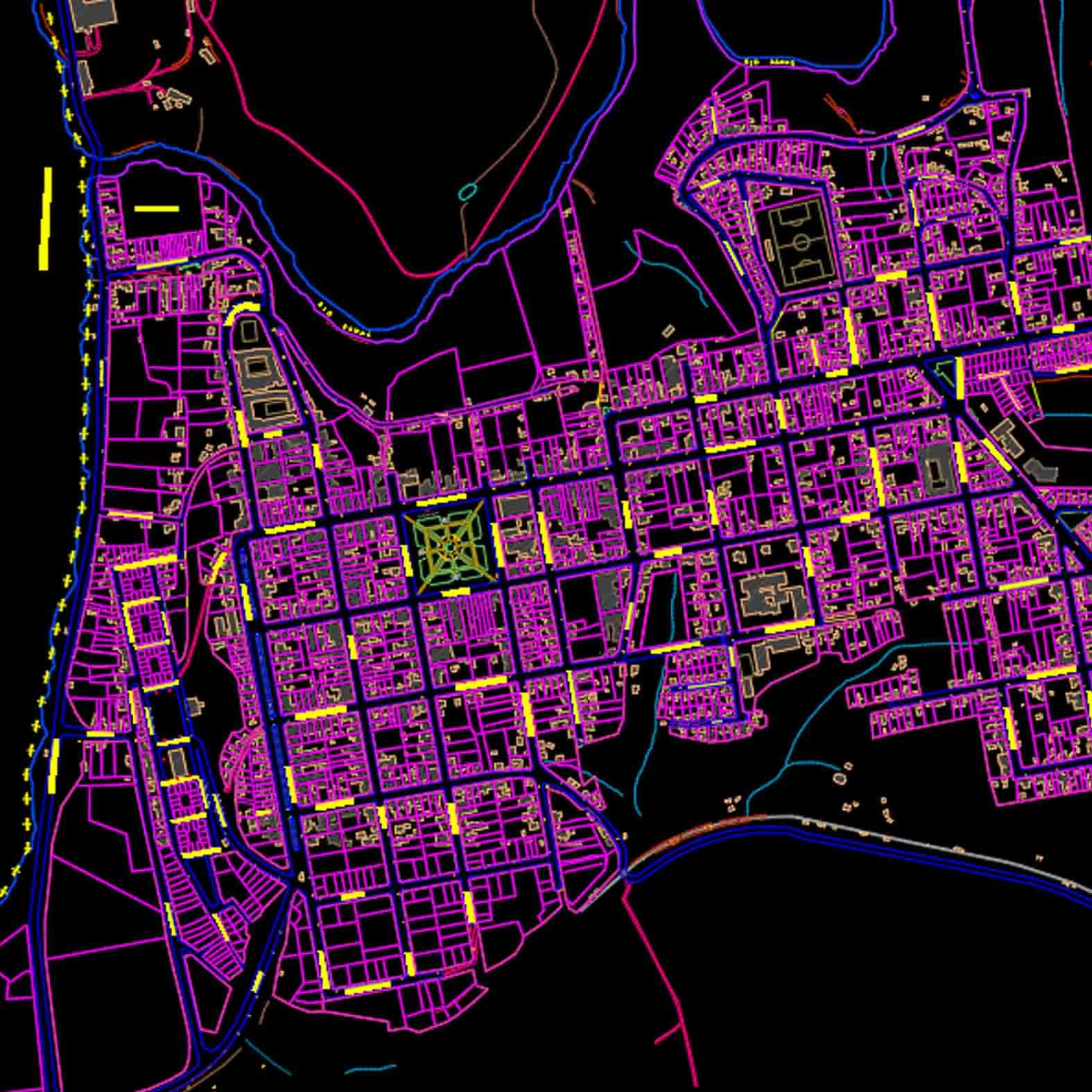 Plano: Ciudad de Carahue