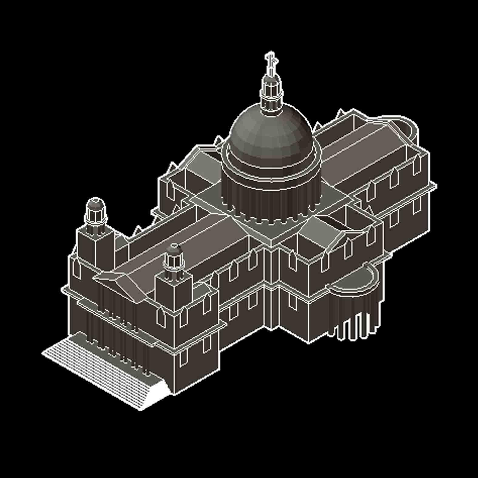 Modelo: Catedral de San Pablo / Londres