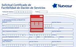 Certificado de factibilidad de dación de agua potable y alcantarillado