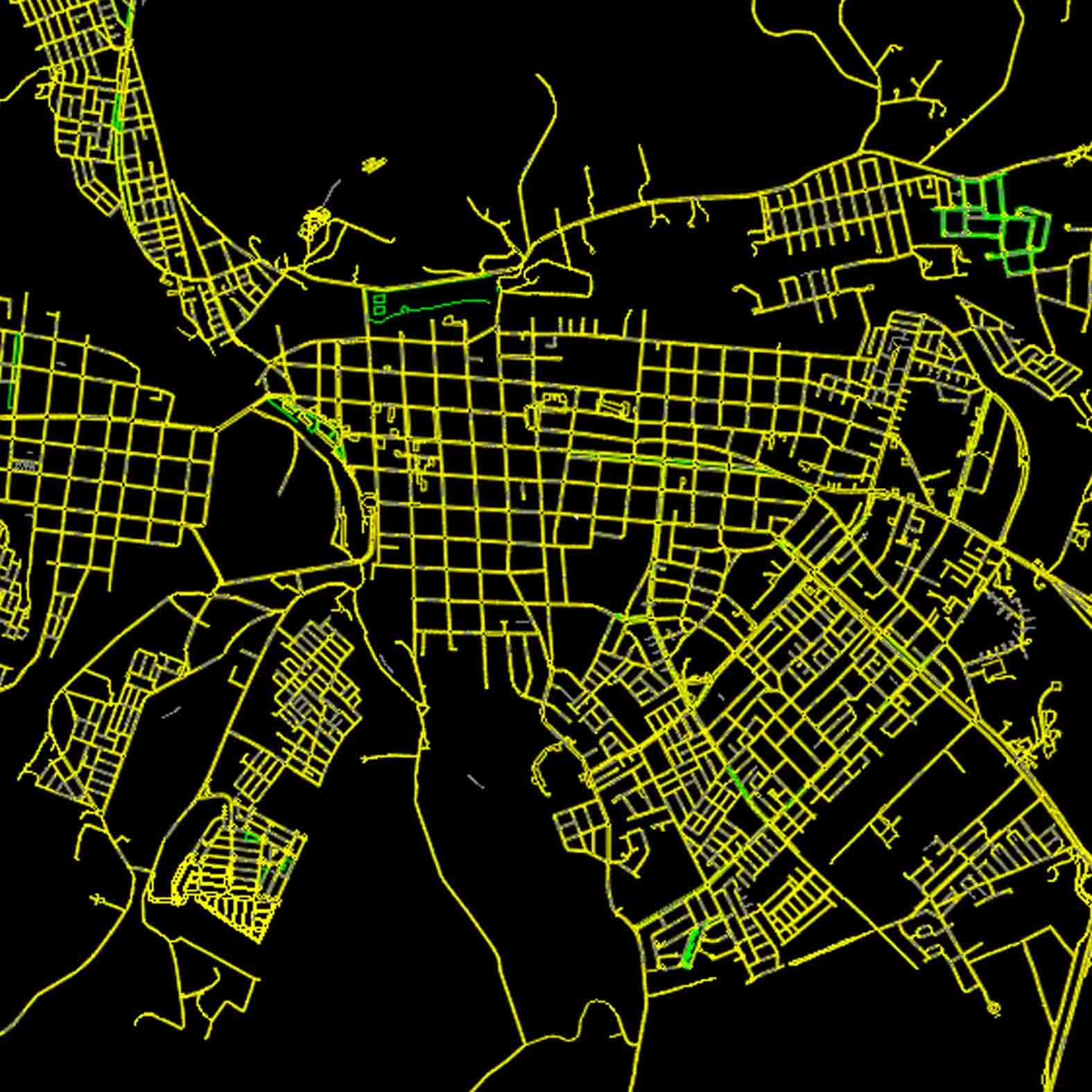 Plano: Ciudad de Osorno - Vialidad