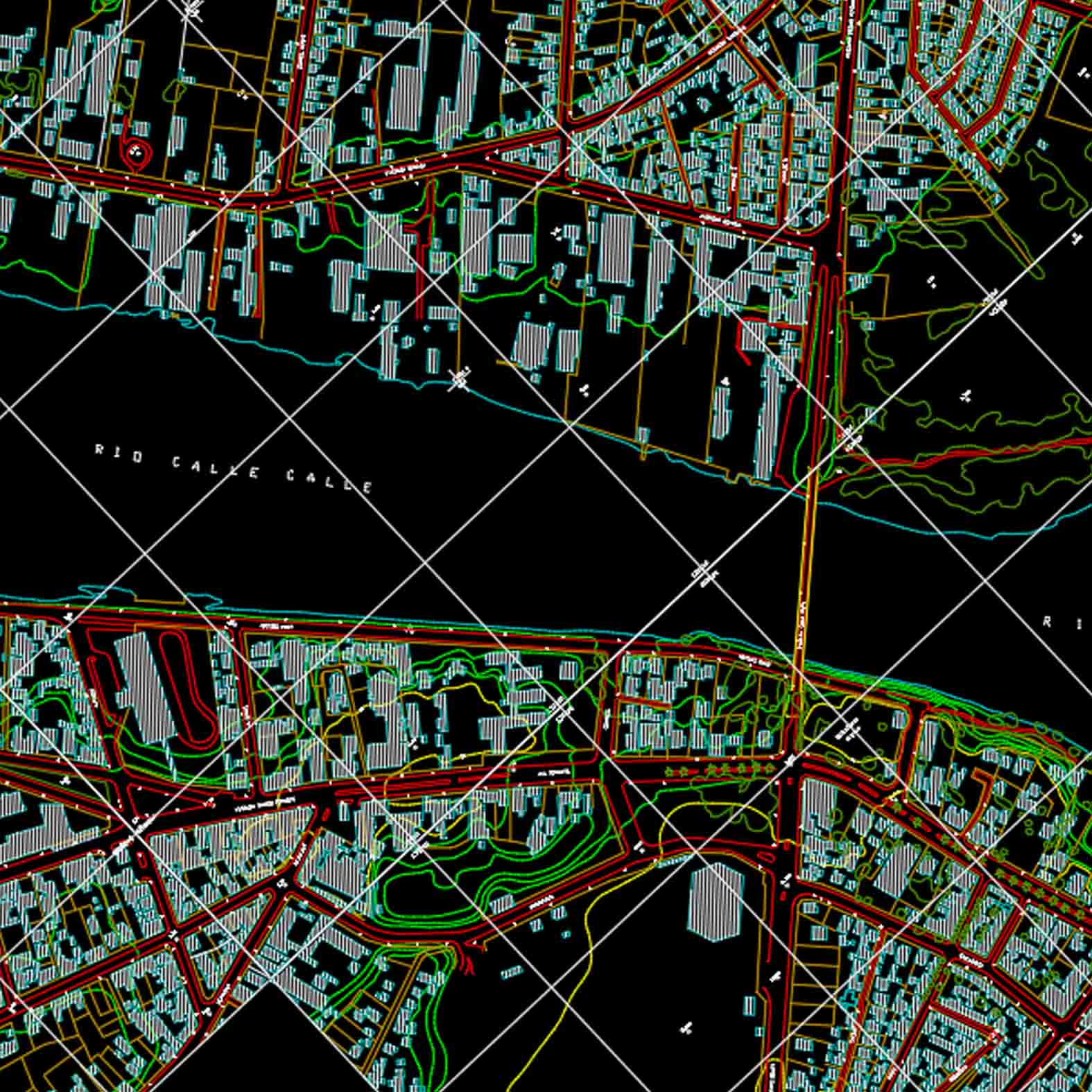 Plano: Ciudad de Valdivia - Construcciones