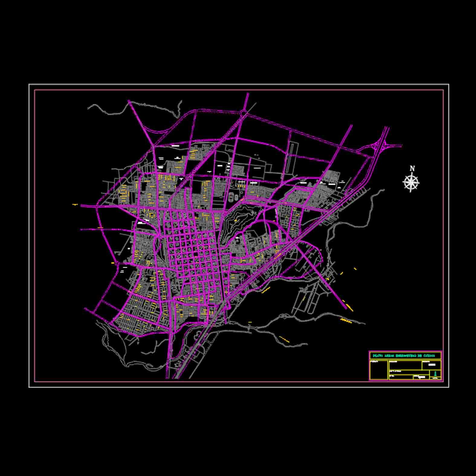 Plano: Ciudad de Curicó