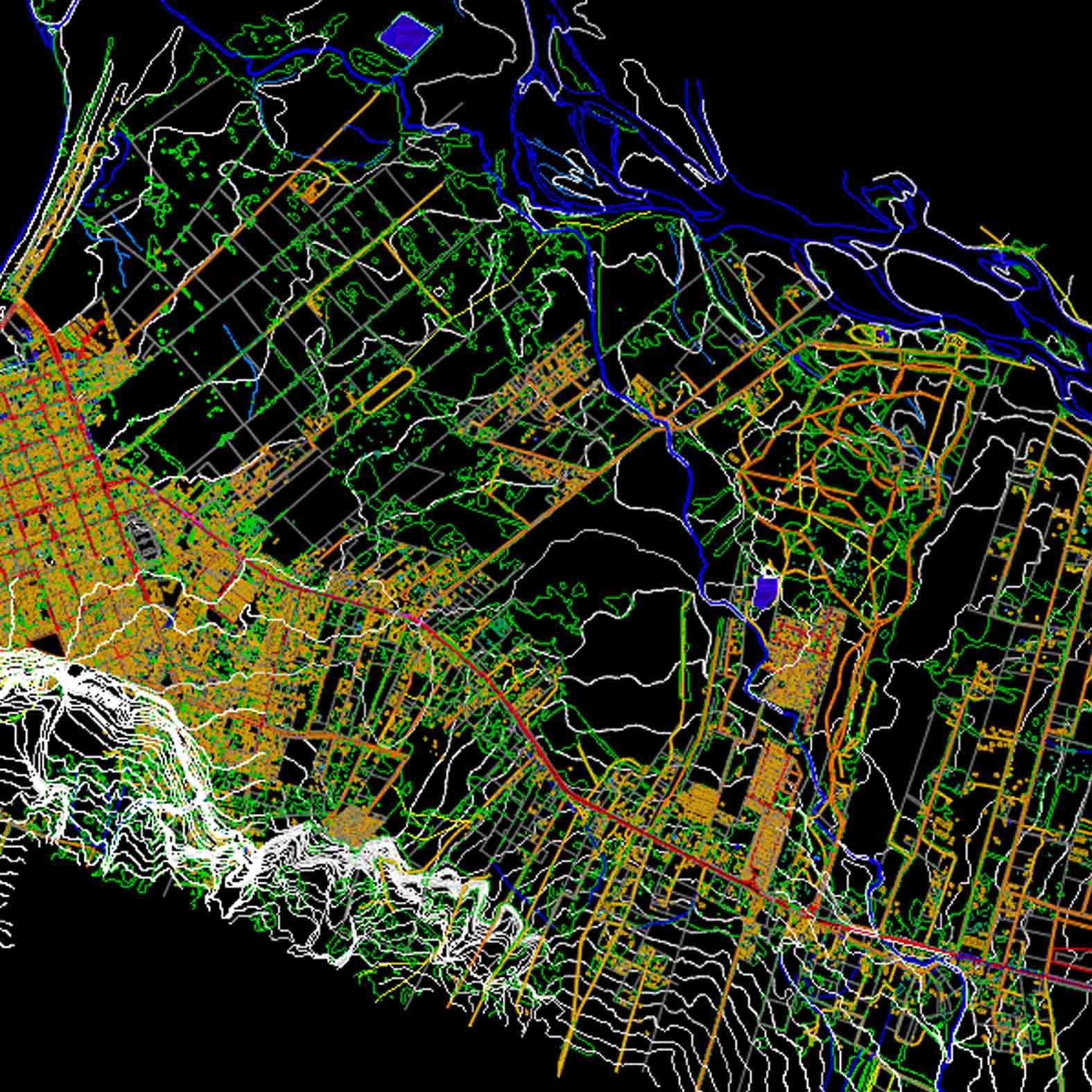 Plano: Ciudad de Pucón
