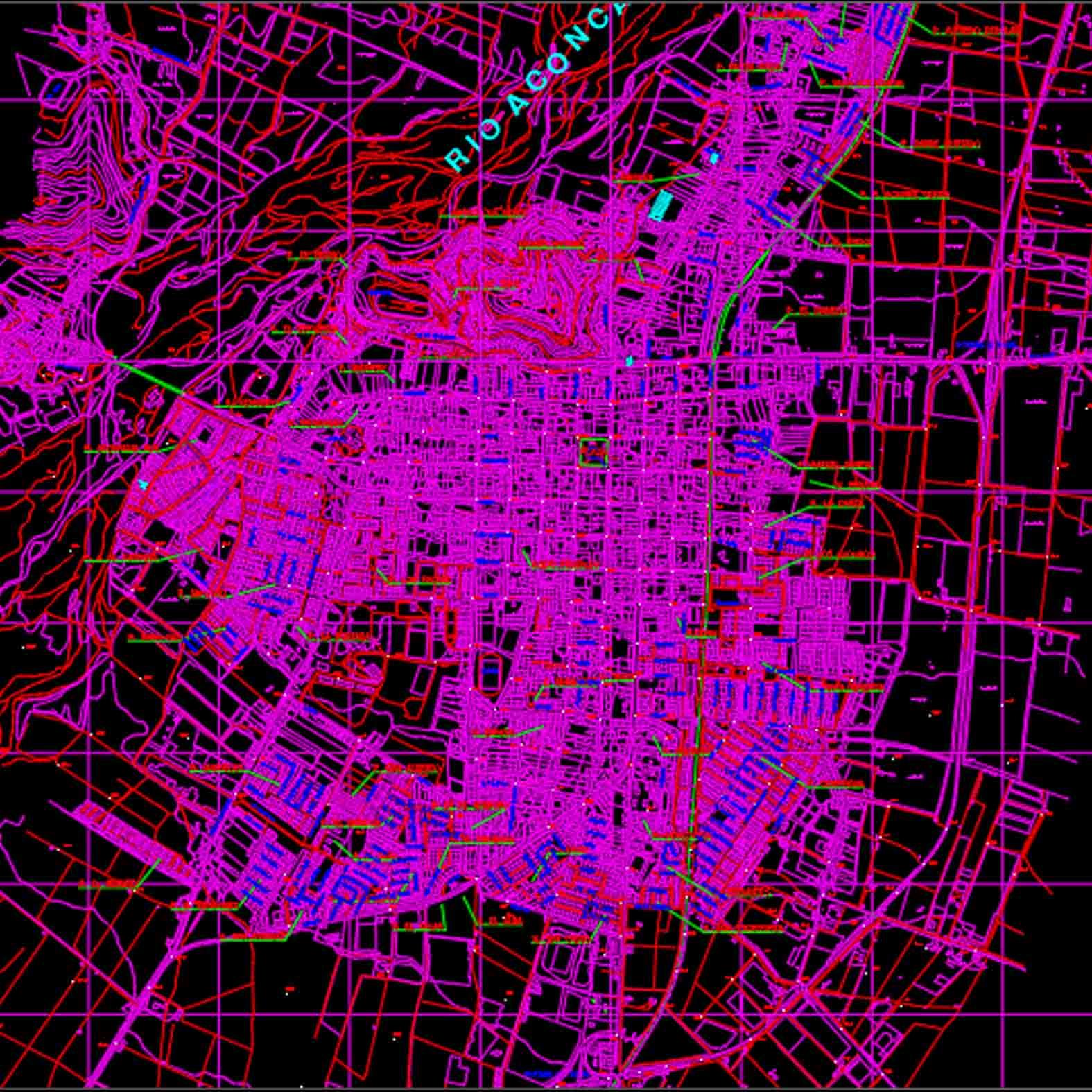 Plano: Ciudad de Quillota 1998