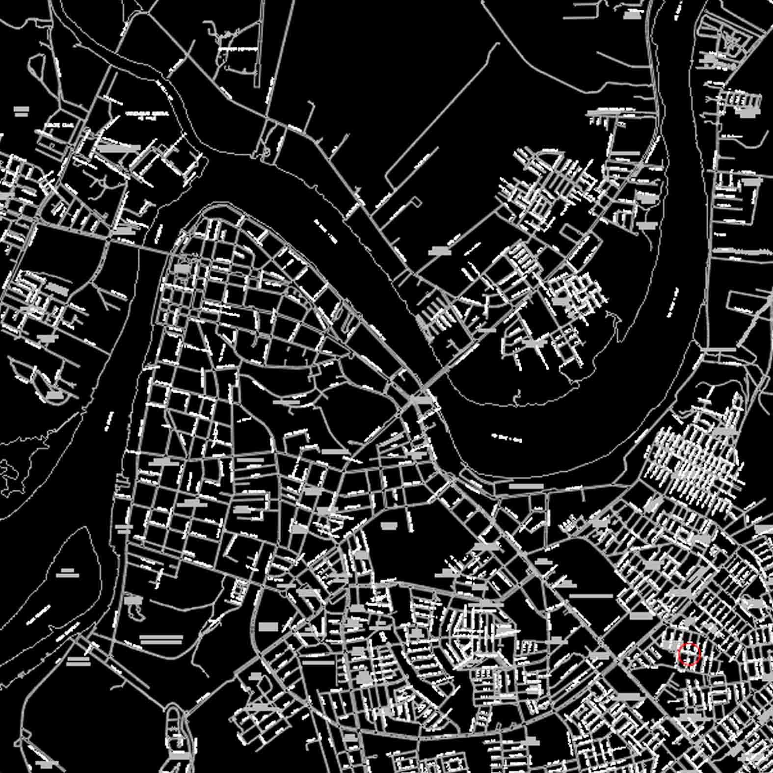 Plano: Ciudad de Valdivia - Vialidad