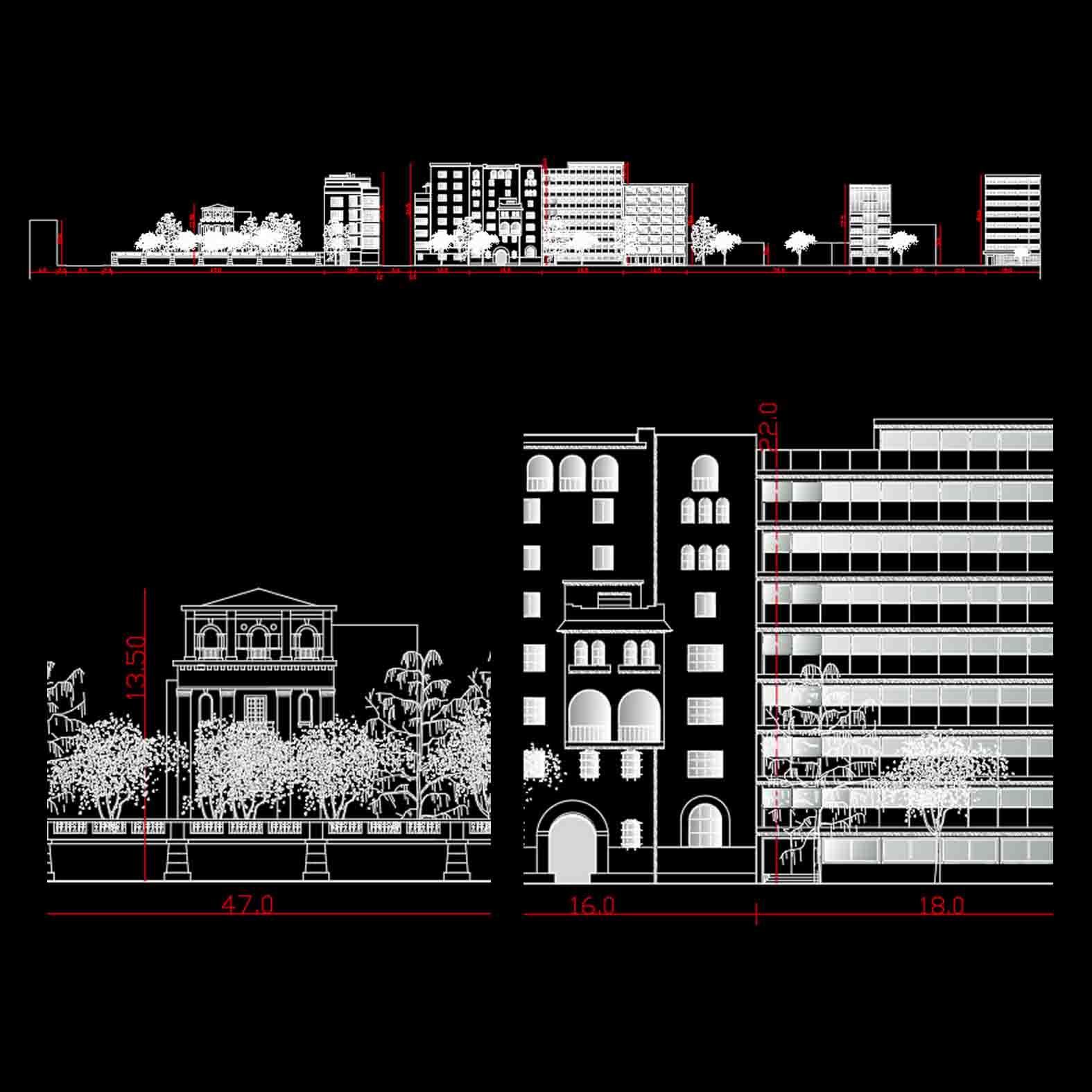 Plano: Elevación Calle Merced / Santiago