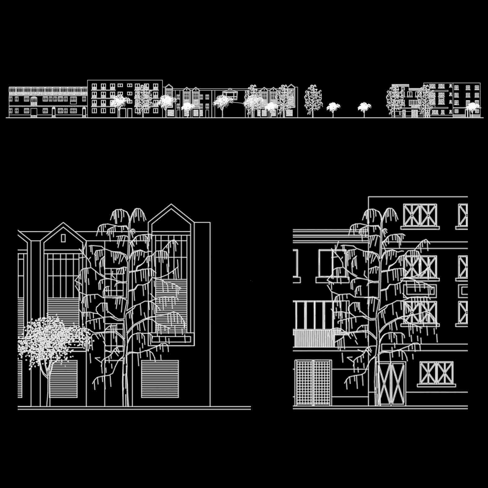Plano: Elevación Calle Villavicencio / Santiago
