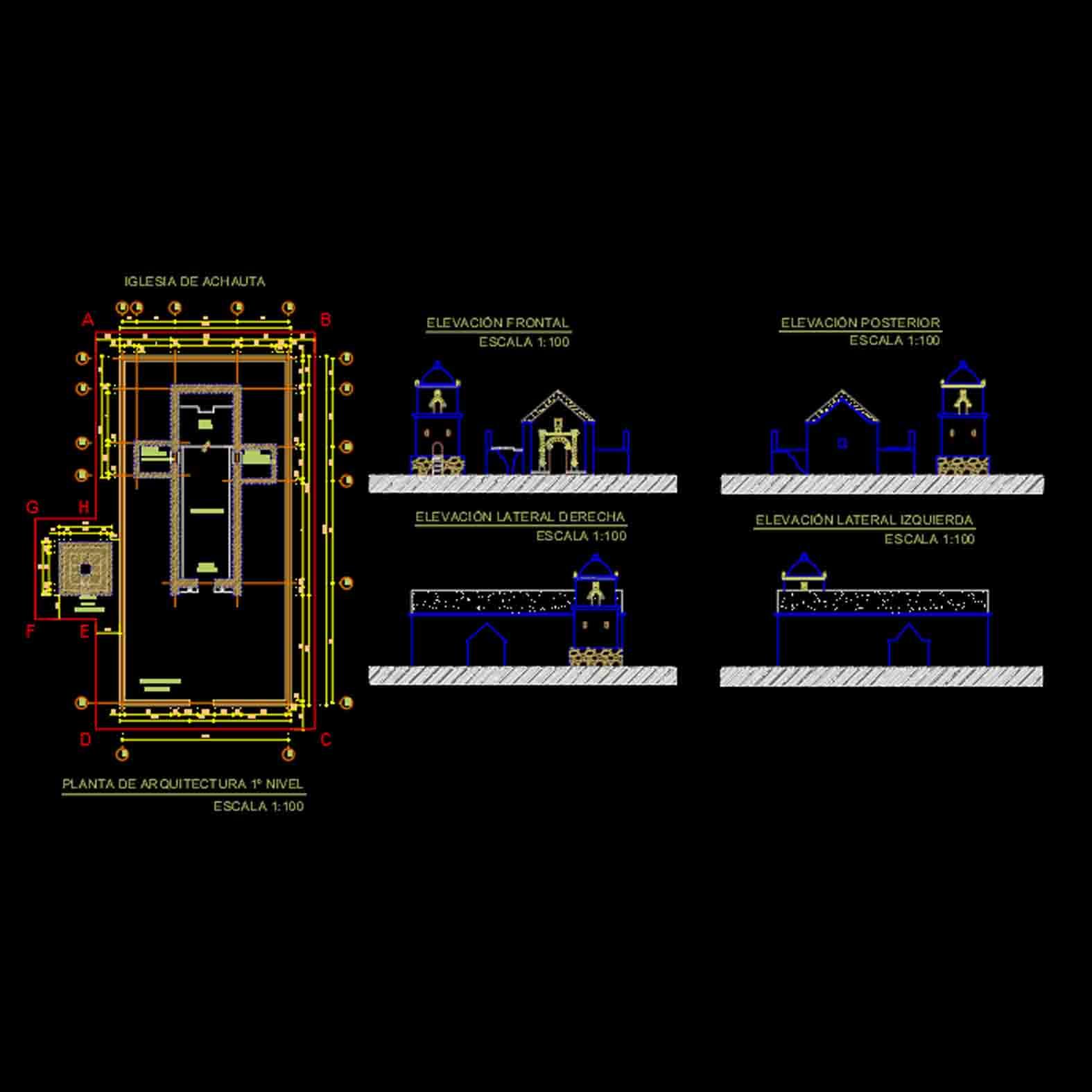 Plano: Iglesia de Achauta / Colchane
