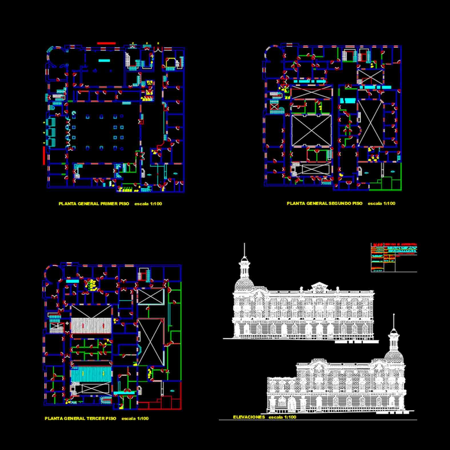 Plano: Edificio de los Servicios Públicos / Antofagasta