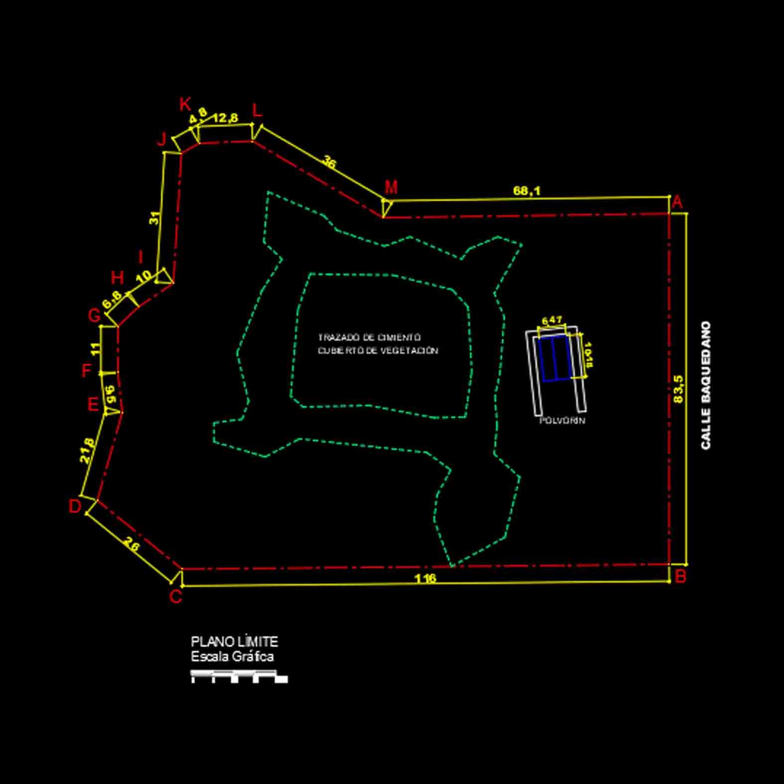 Plano: Fuerte San Carlos / Ancud