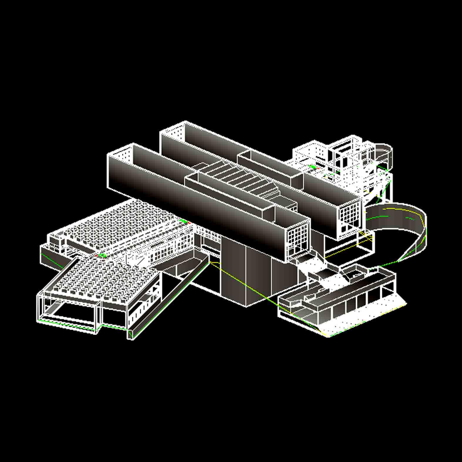 Modelo: Museo de Arte Moderno / Arata Isozaki