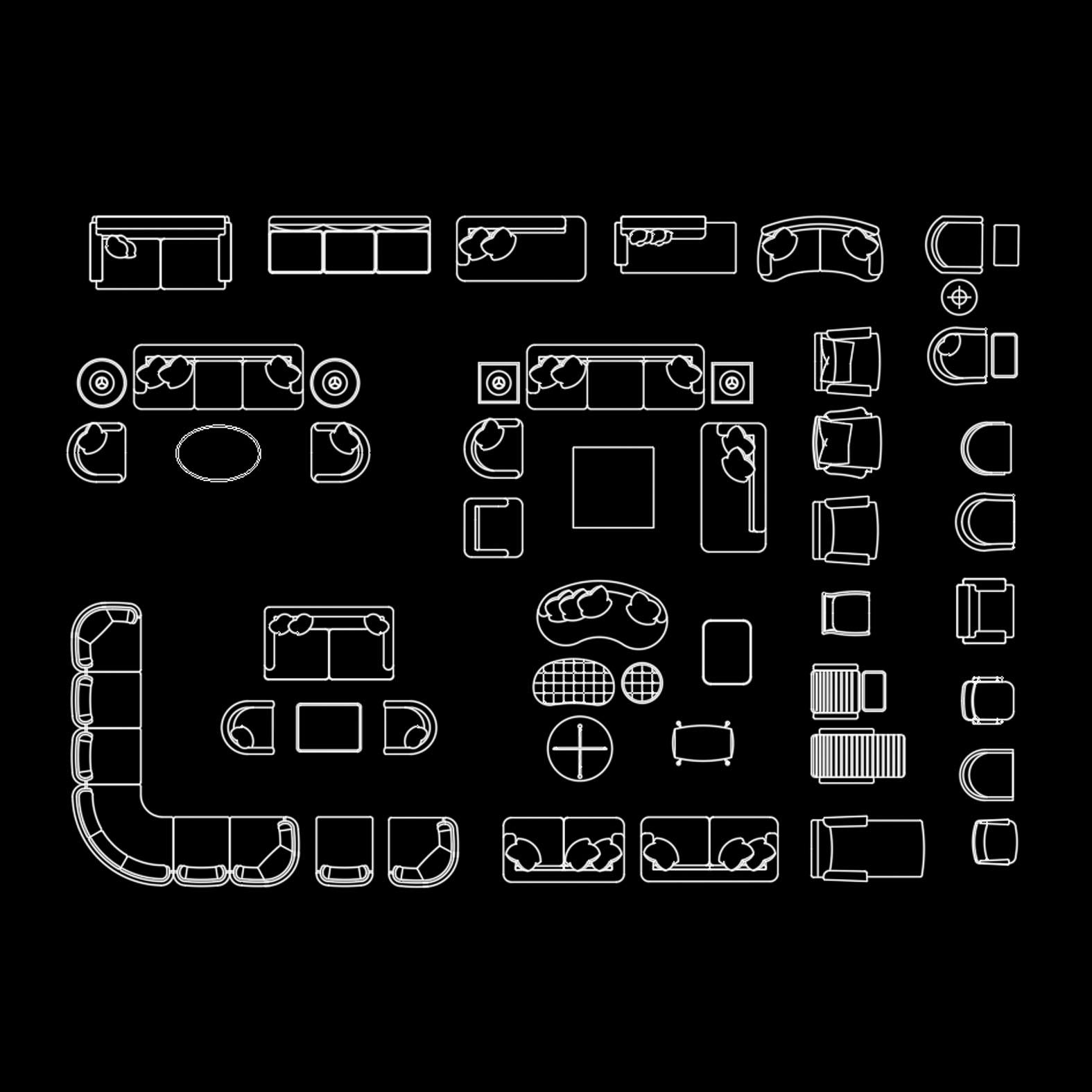 Bloques: Sala de estar / Living