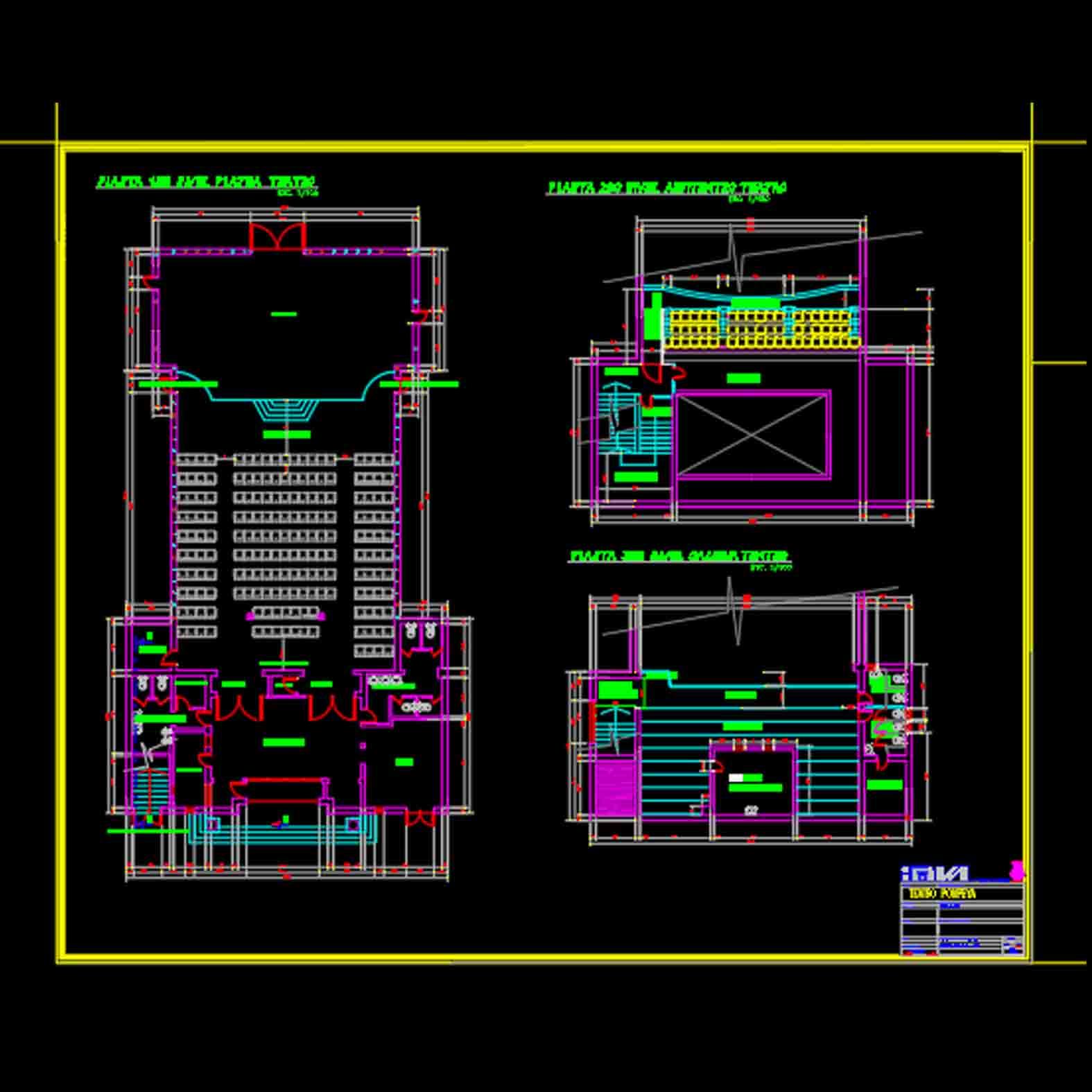 Plano: Teatro Pompeya / Villa Alemana