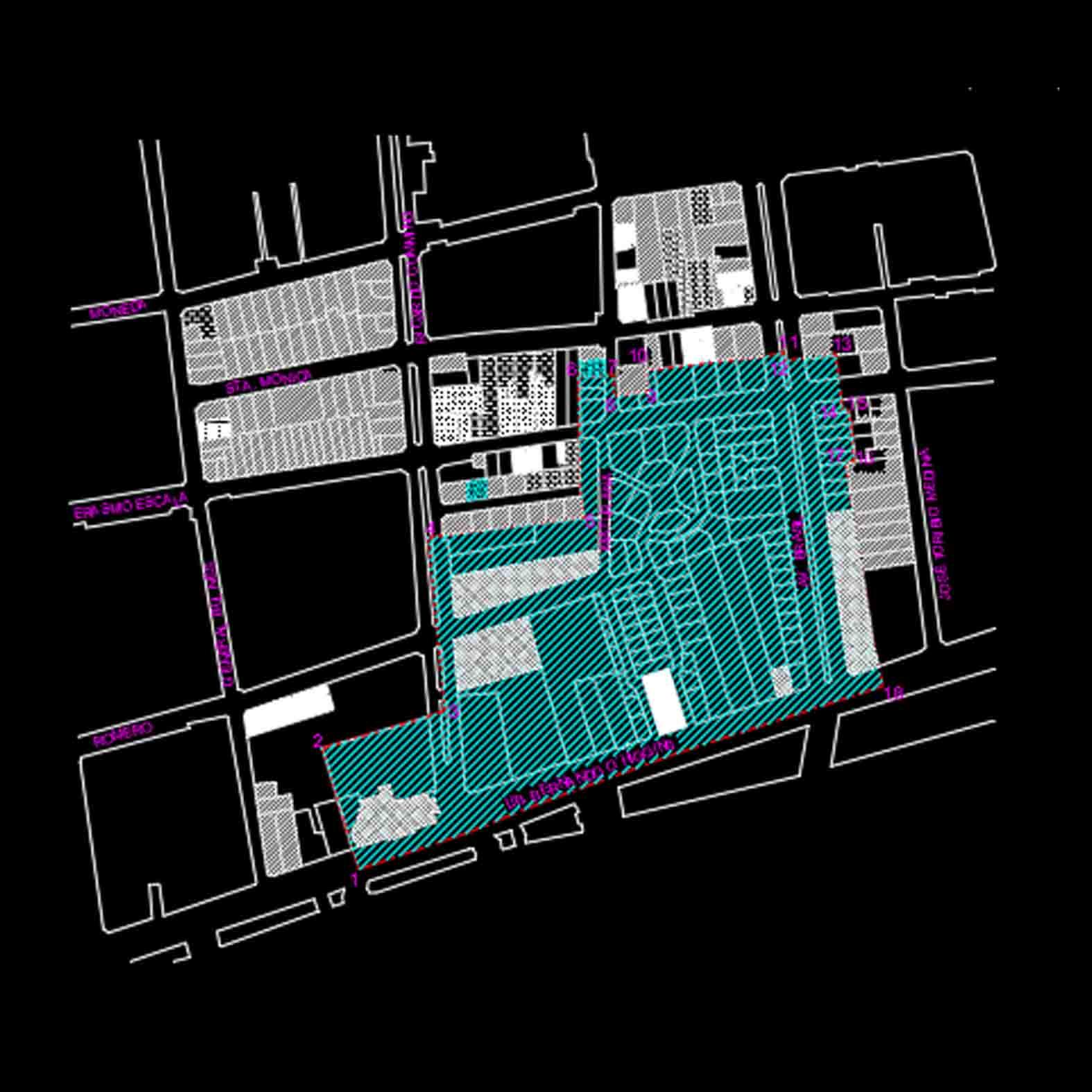 Plano: Barrio Concha y Toro / Santiago
