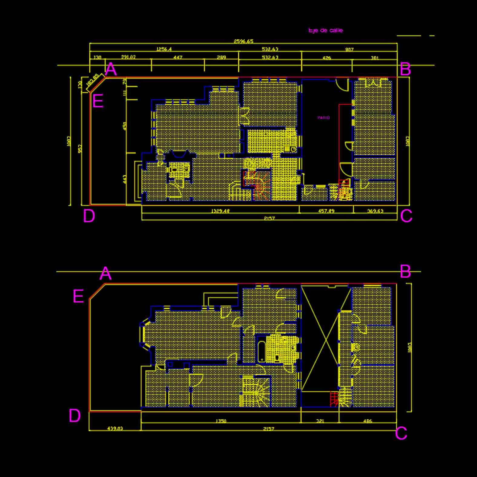 Plano: Casa de las Gárgolas / Providencia