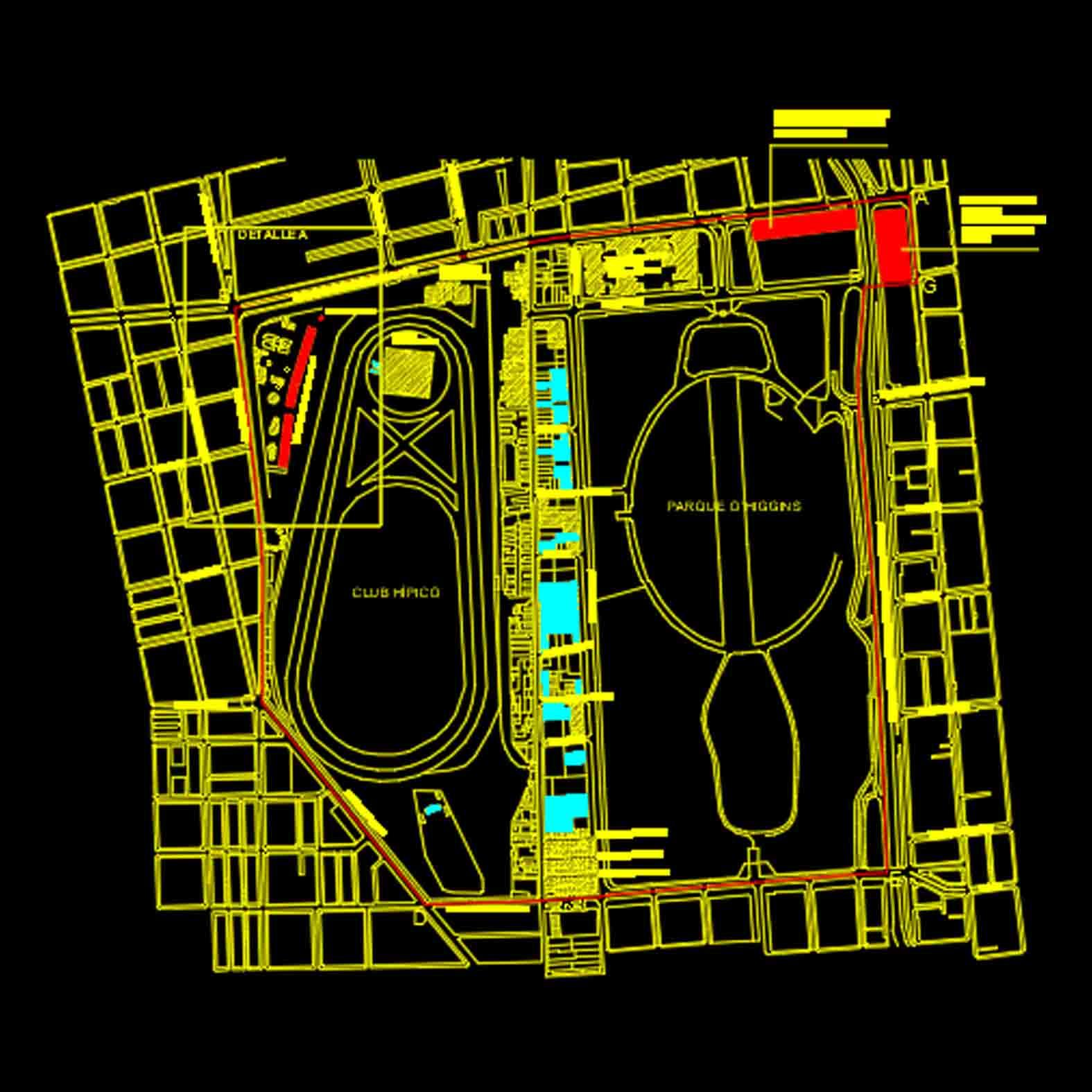 Plano: Barrio Club Hípico / Santiago