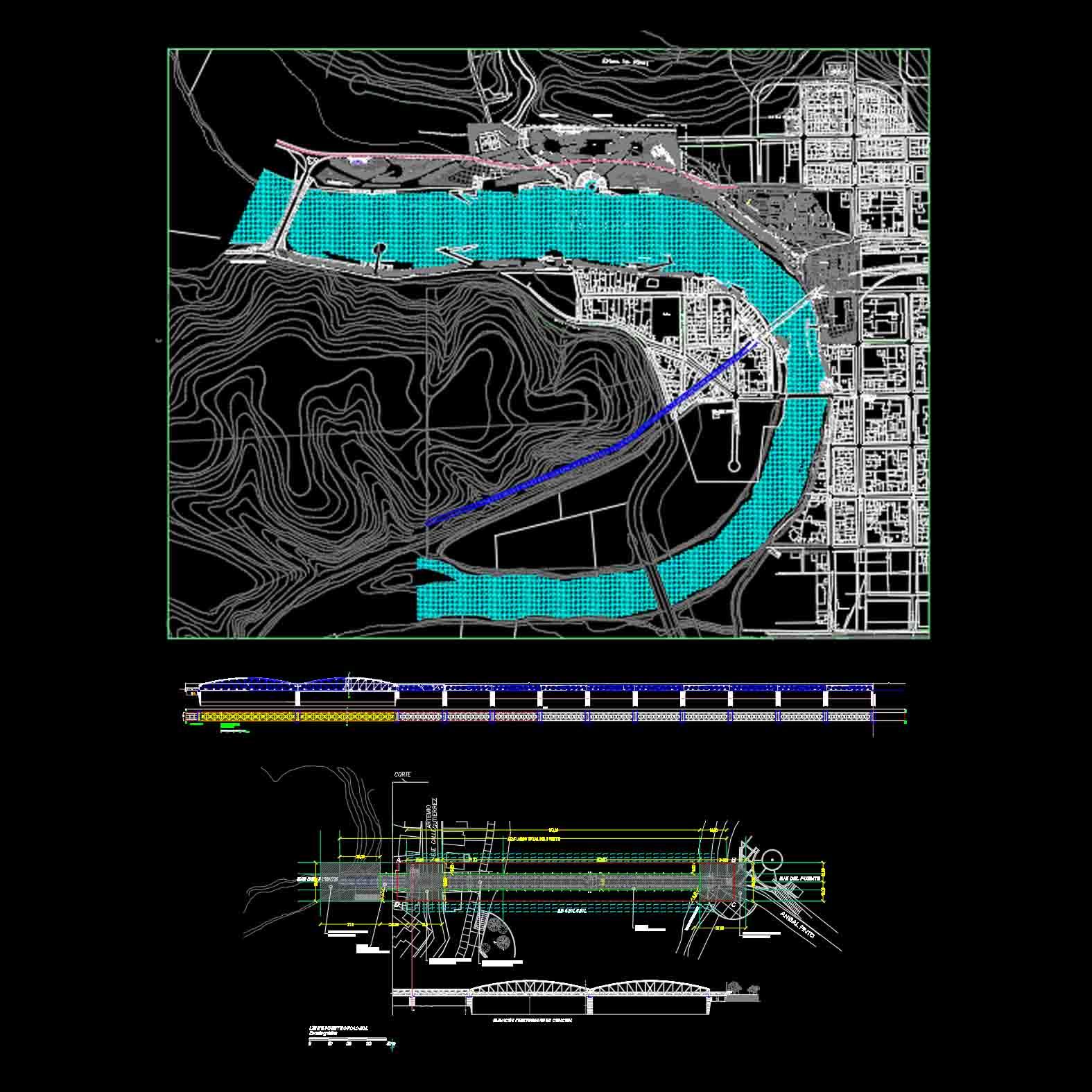 Plano: Puente Cholchol / Nueva Imperial y Cunco