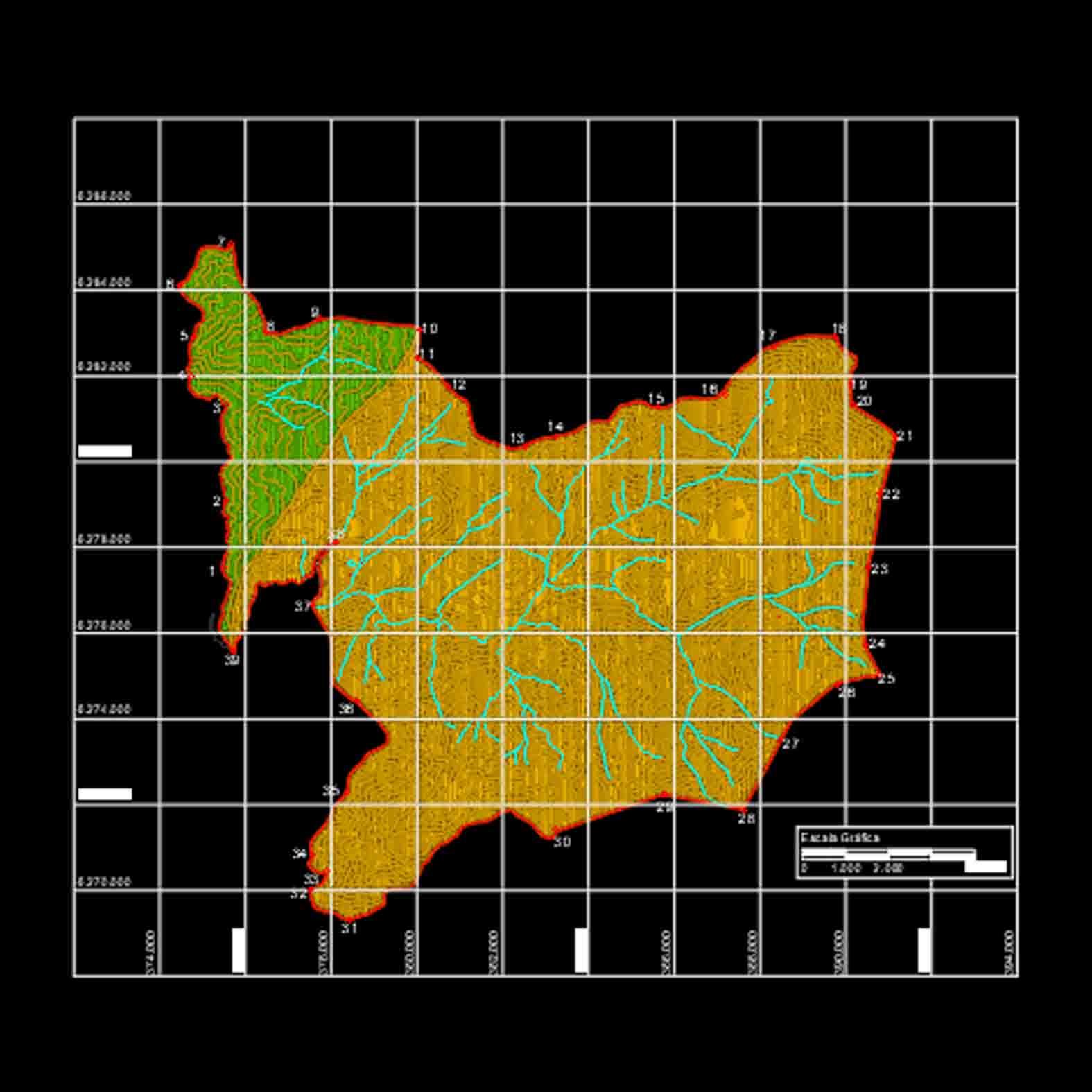 Plano: Predios San Francisco de Lagunillas y Quillayal / San José de Maipo