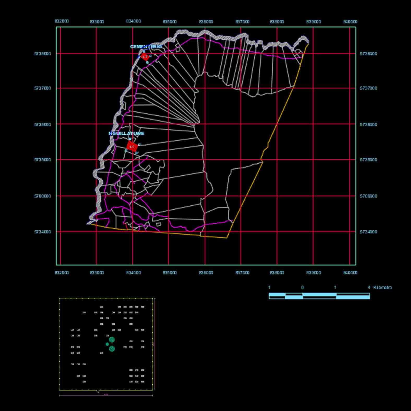 Plano: Comunidad de Mitrauquen Alto / Lonquimay