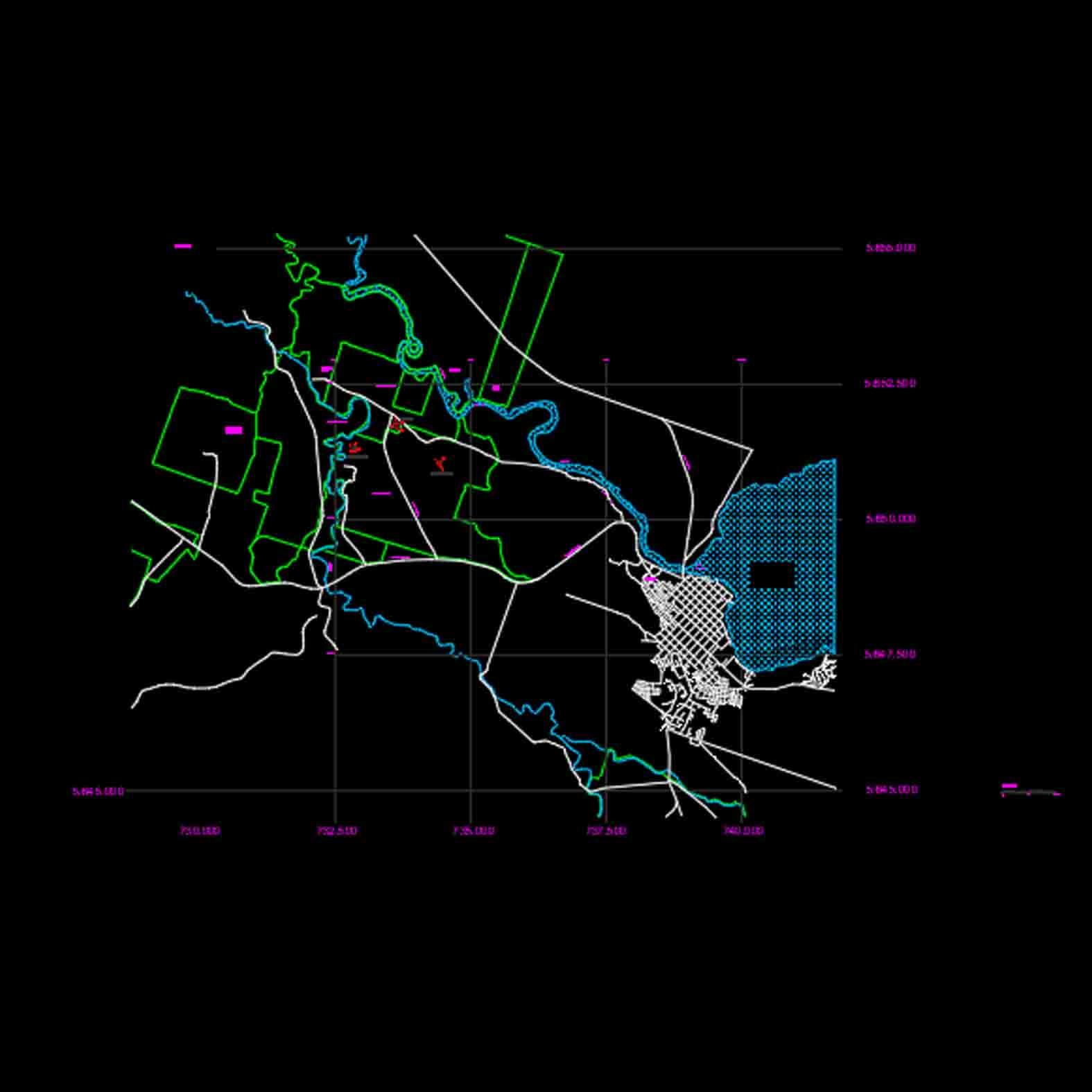 Plano: Espacio Guillatuwe, Paliwe y Eltun / Villarica