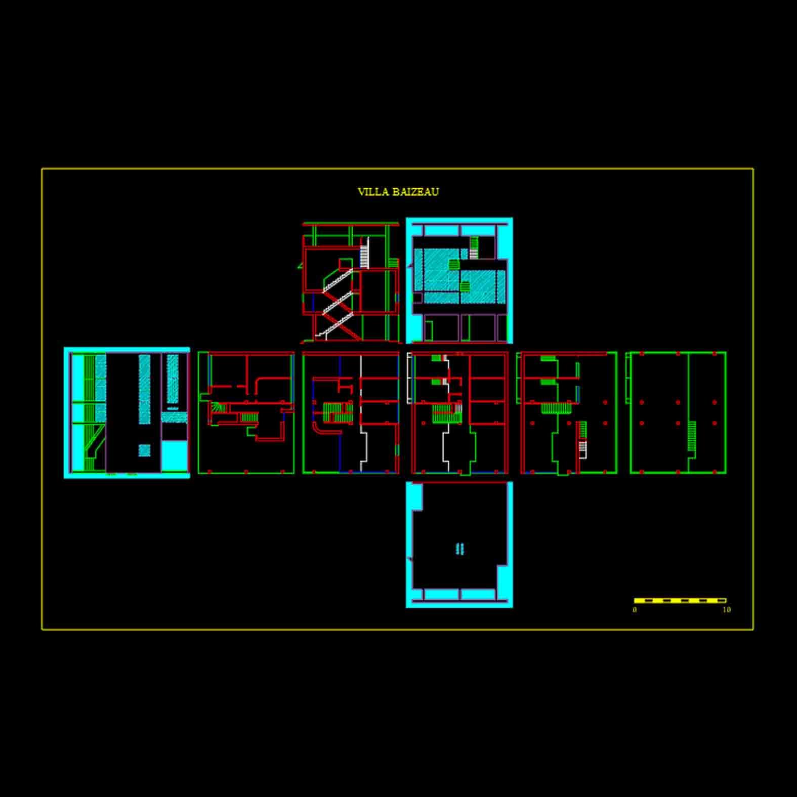 Plano: Villa-Baizeau / Le Corbusier