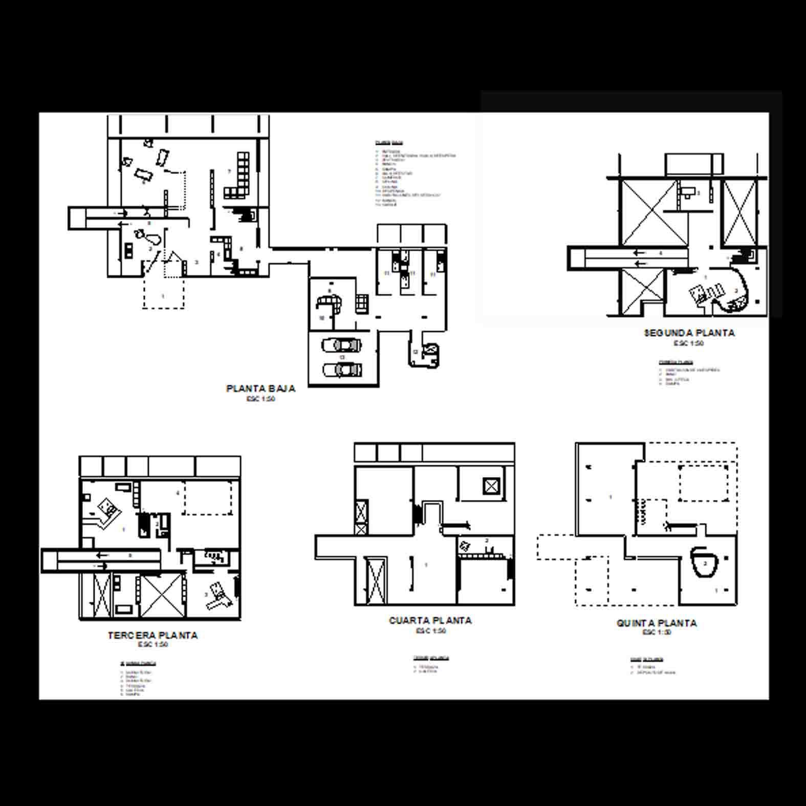 Plano: Vivienda Shodad / Le Corbusier