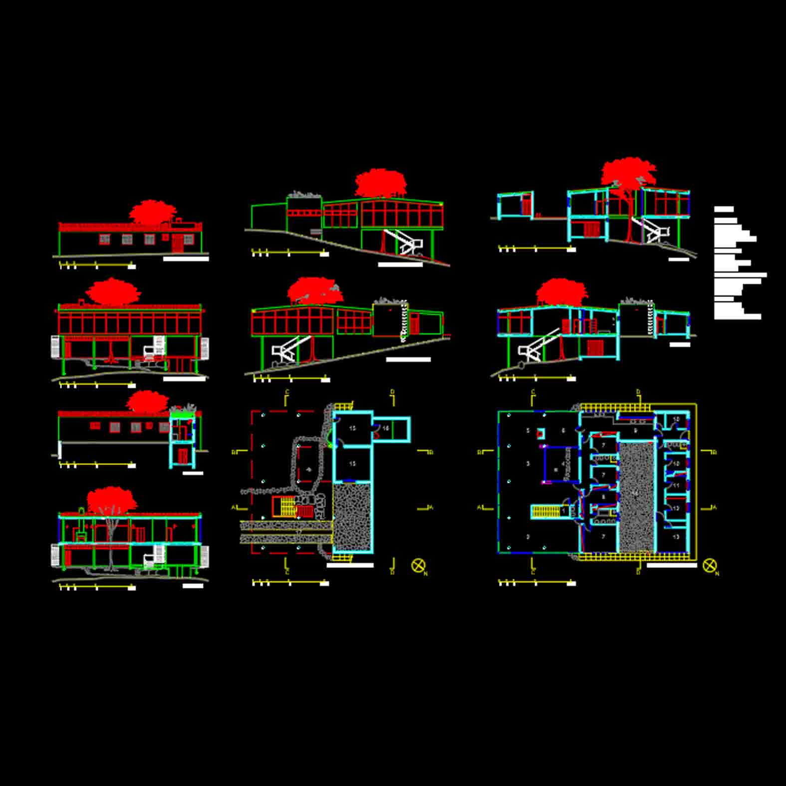 Plano: Casa de Vidrio / Lina Bo Bardi
