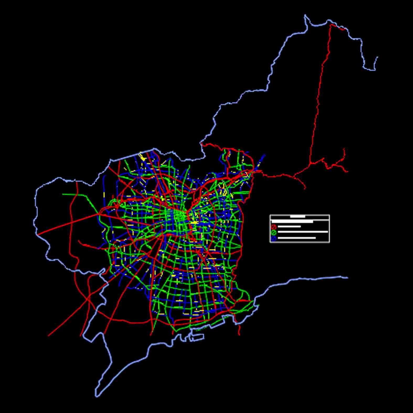 Plano: Región Metropolitana / Red Vial