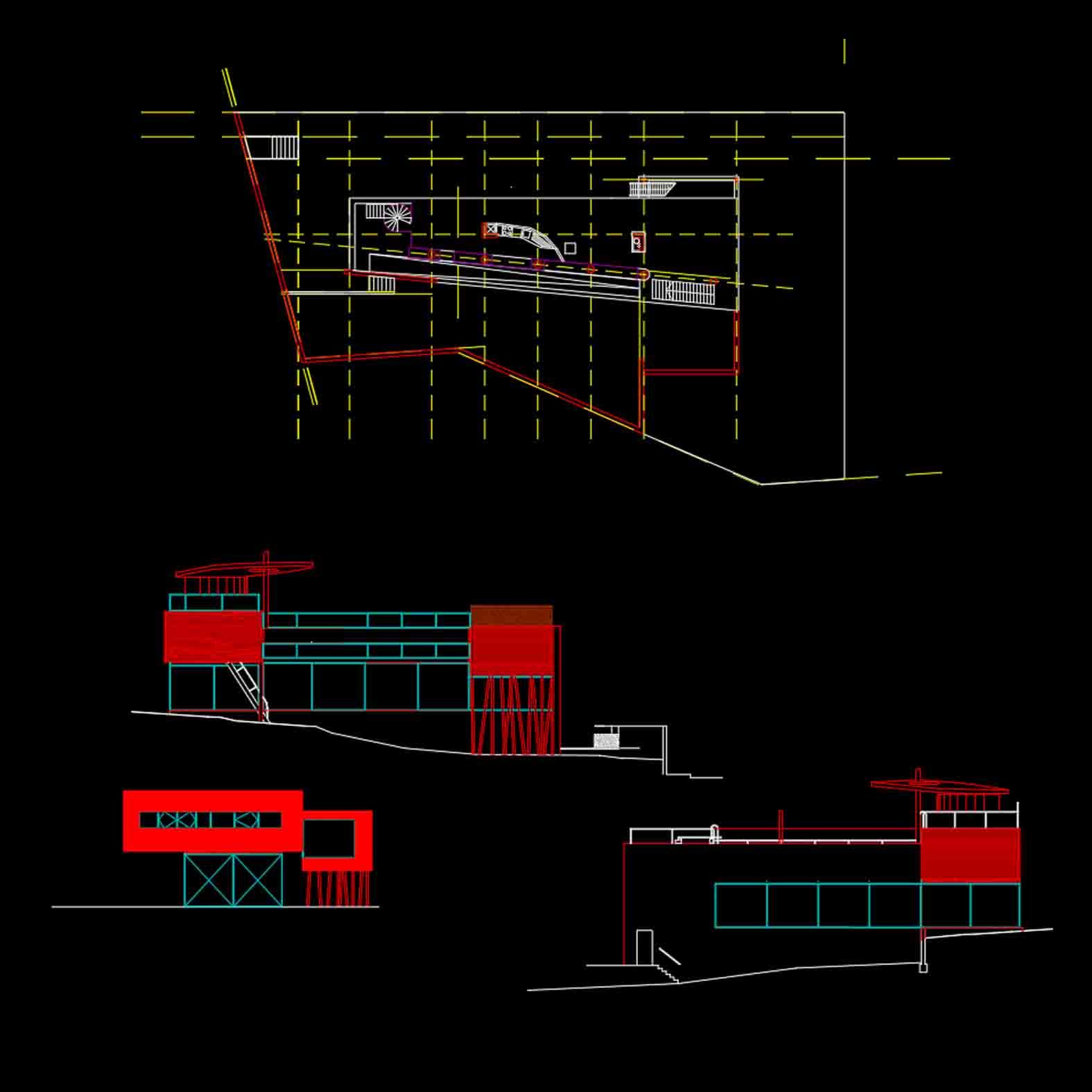 Plano: Villa Dall Ava / Rem Koolhaas