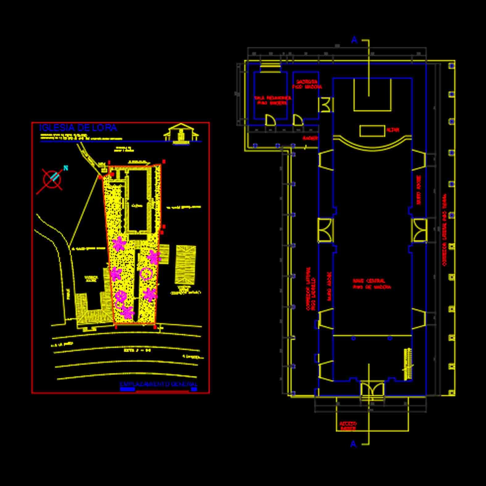 Plano: Santuario de Lora / Licantén