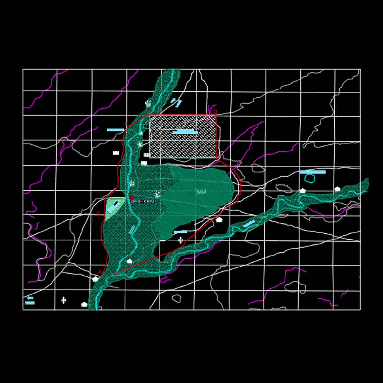Plano: San Francisco de Chiu Chiu / Zona Típica