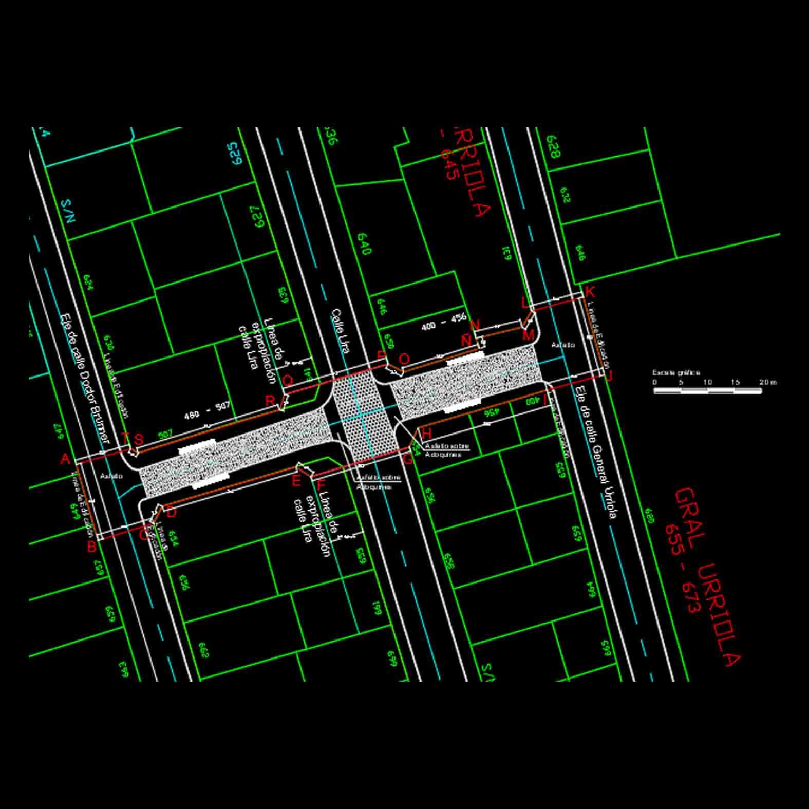 Plano: Calle Ricaurte / Santiago