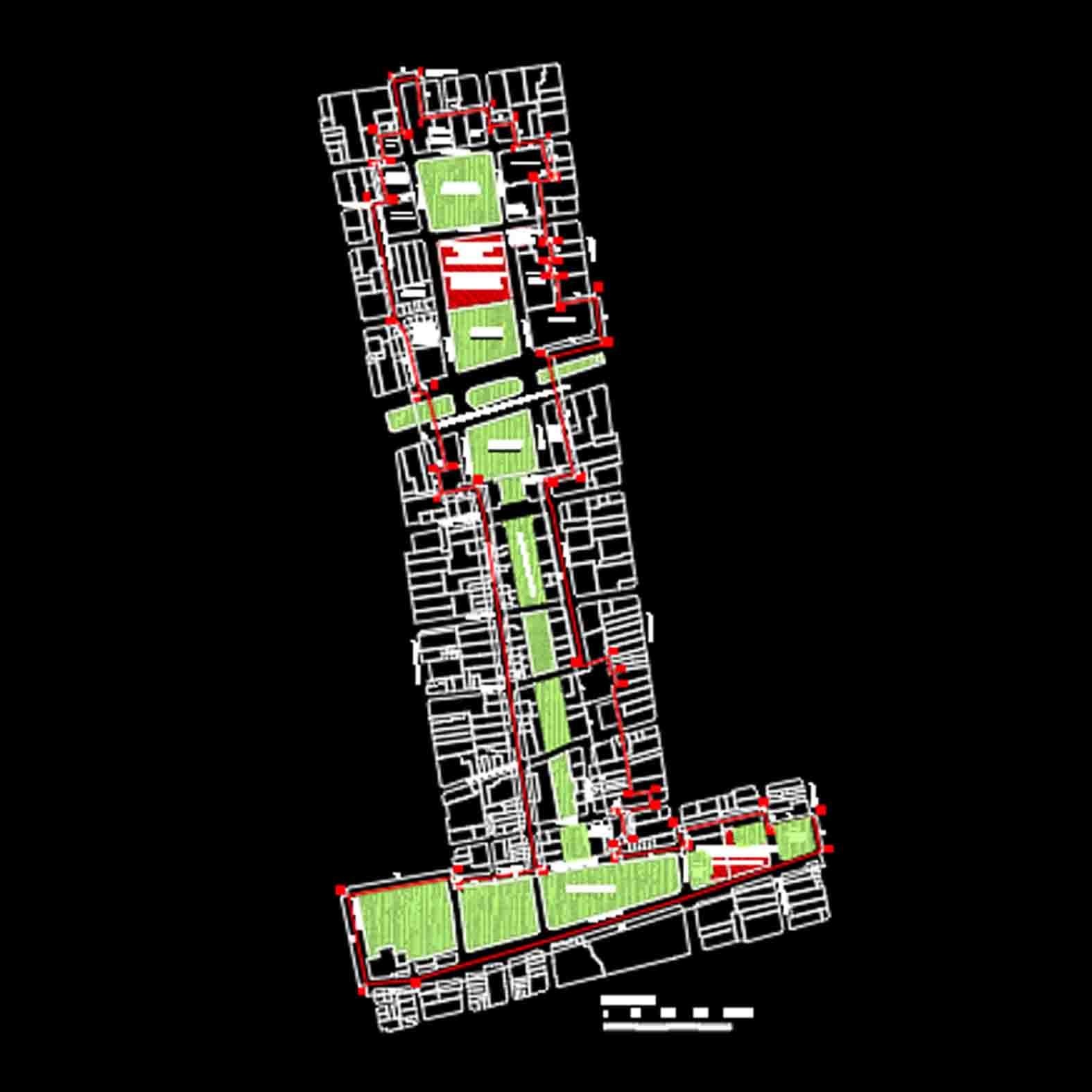 Plano: Barrio Cívico / Santiago