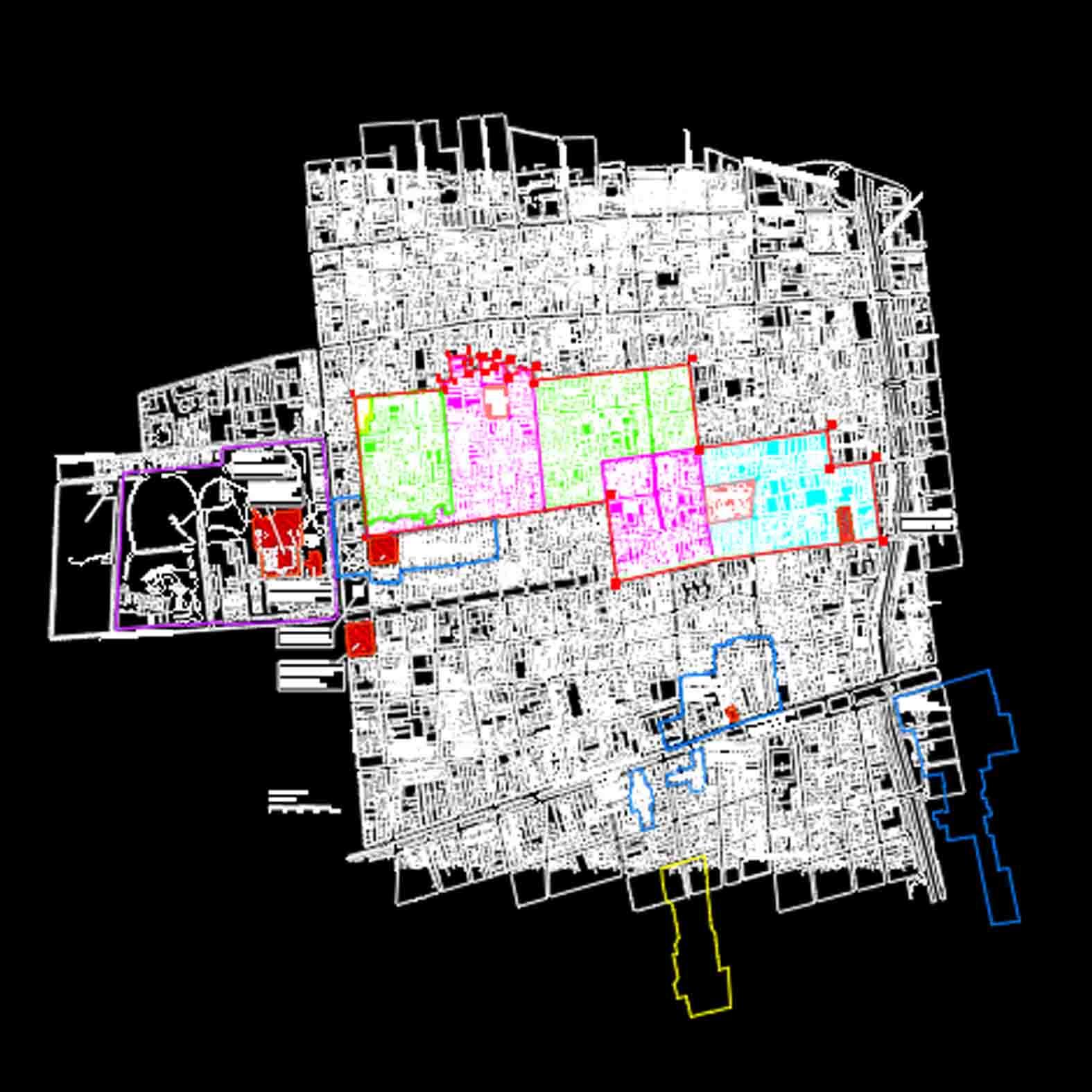 Plano: Barrio Yungay y Brasil / Santiago