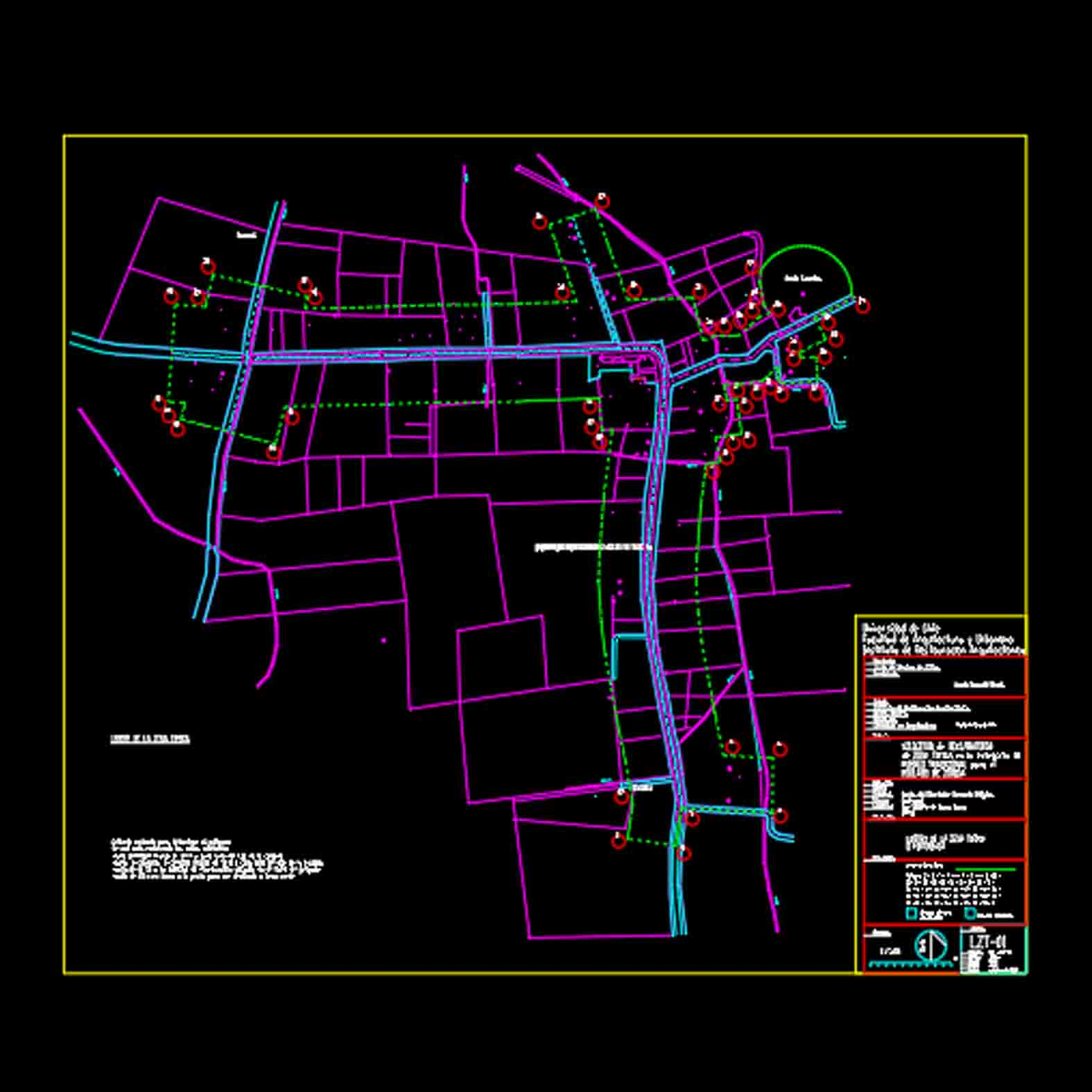 Plano: Pueblo de Zúñiga / Zona Típica