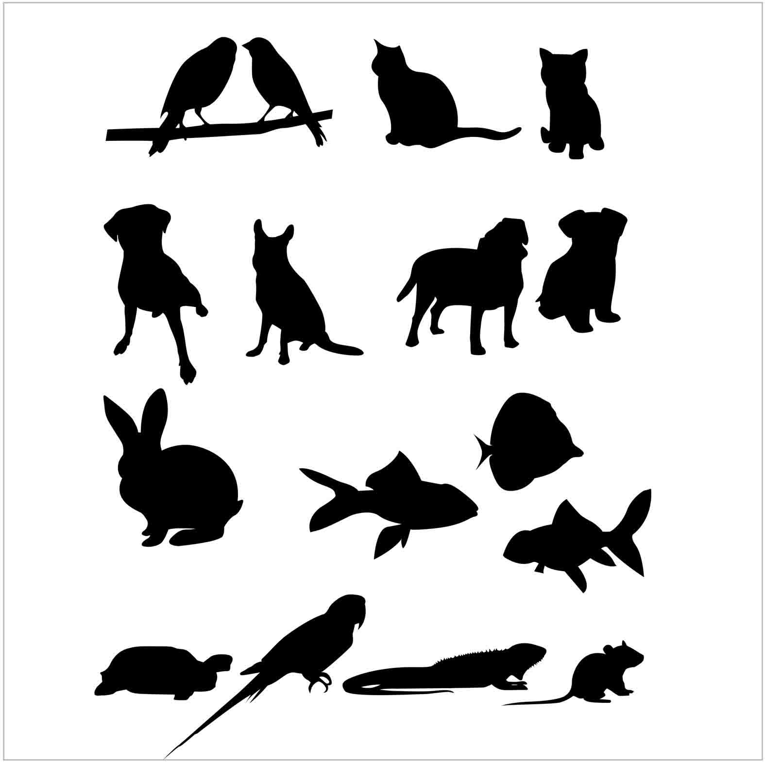 Bloques: Mascotas / Vectorial