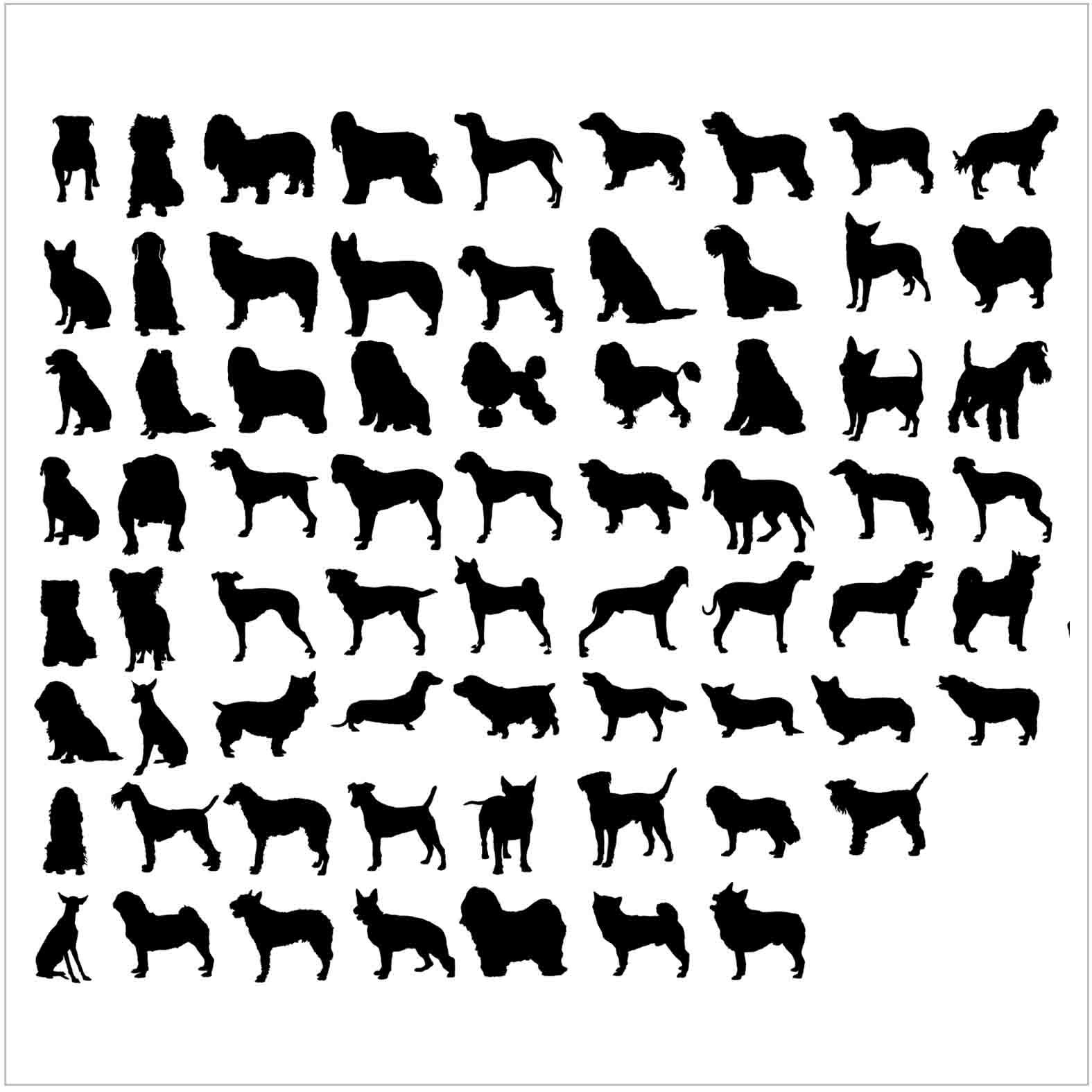 Bloques: Perros / Vectorial