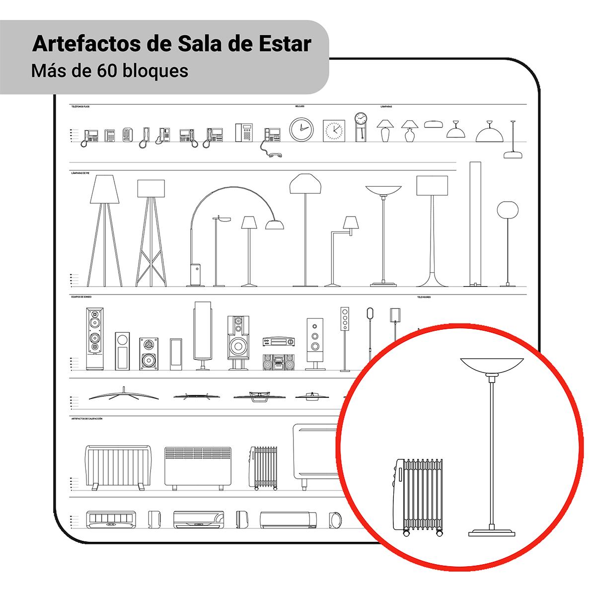 Bloques: Artefactos de Sala de Estar